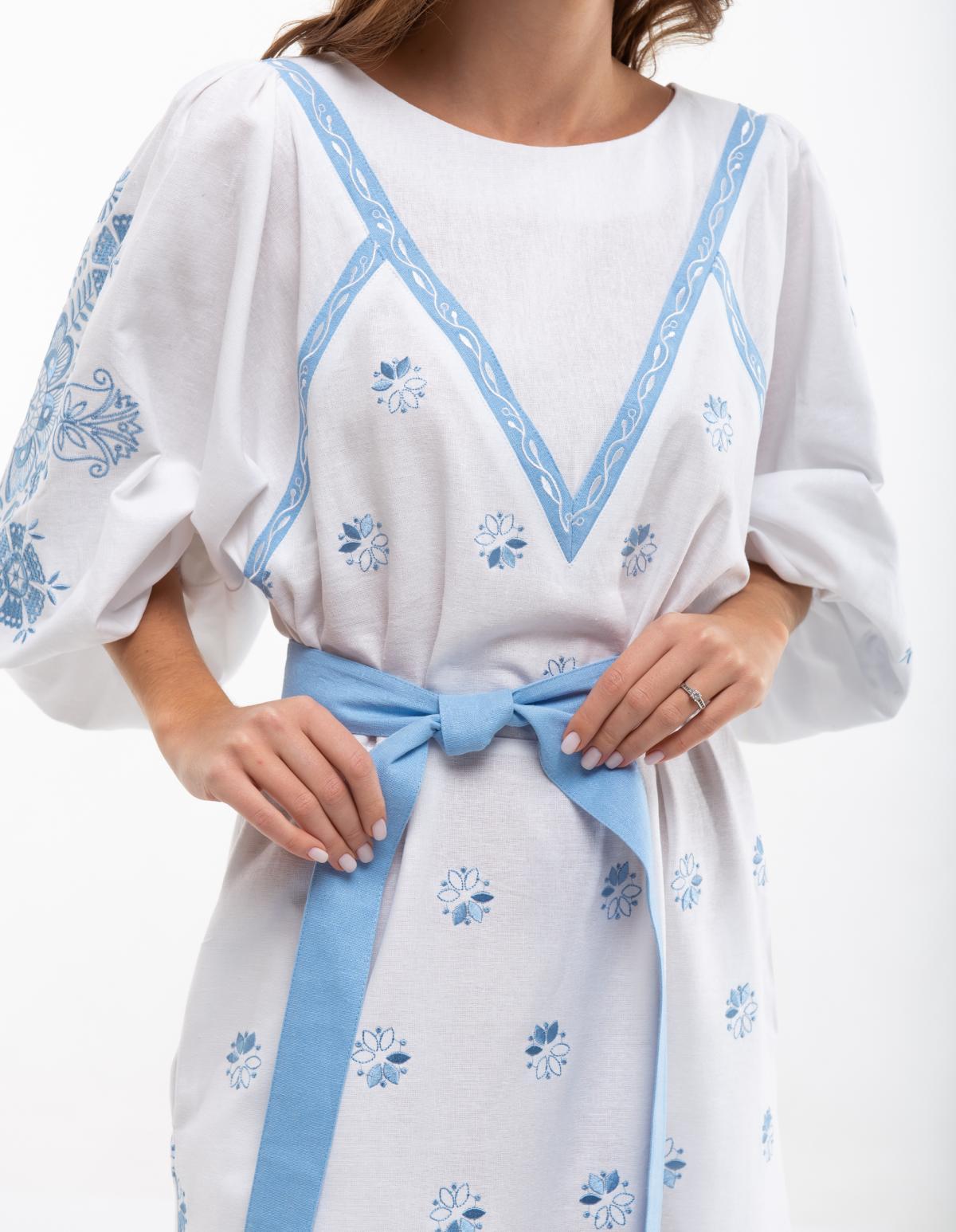 Сукня вишита Росинка біла. Фото №4. | Народний дім Україна