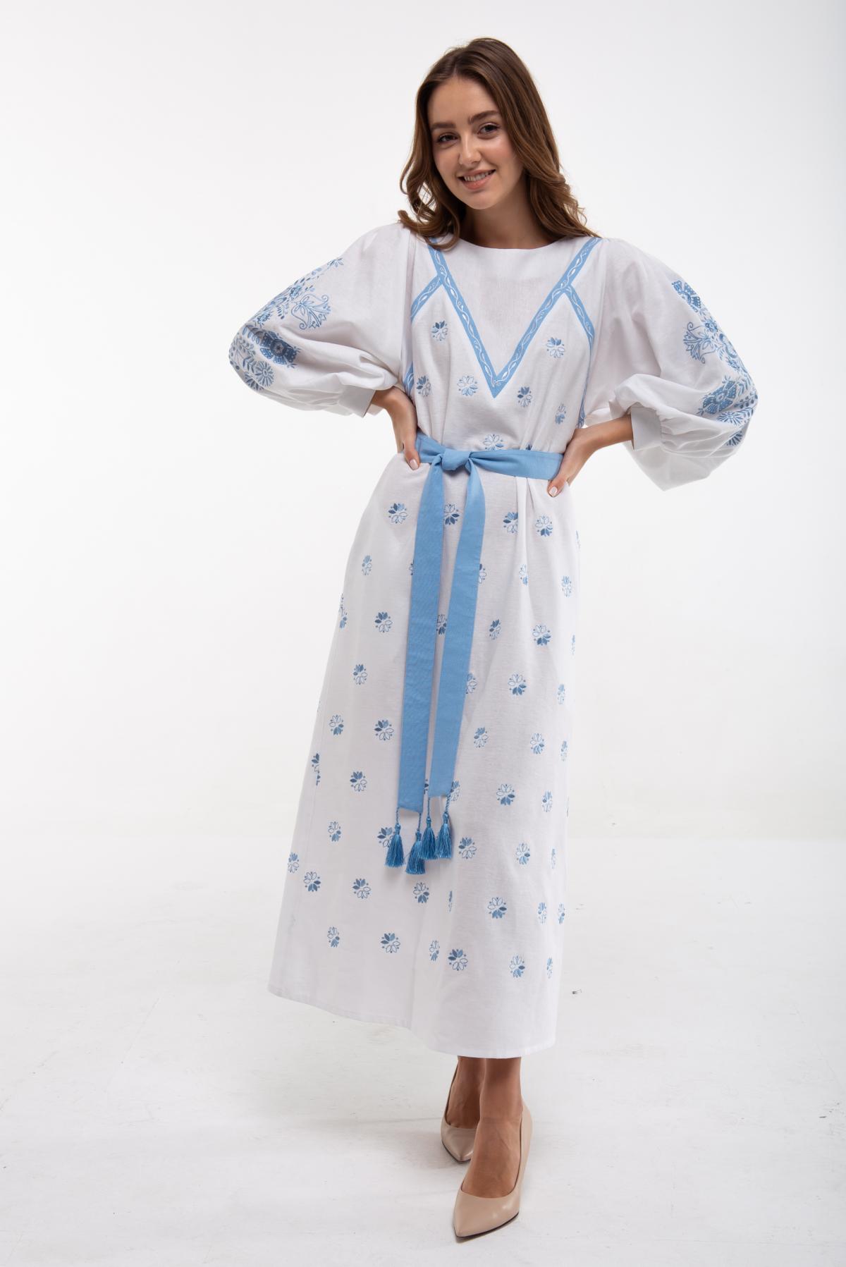 Сукня вишита Росинка біла. Фото №1. | Народний дім Україна