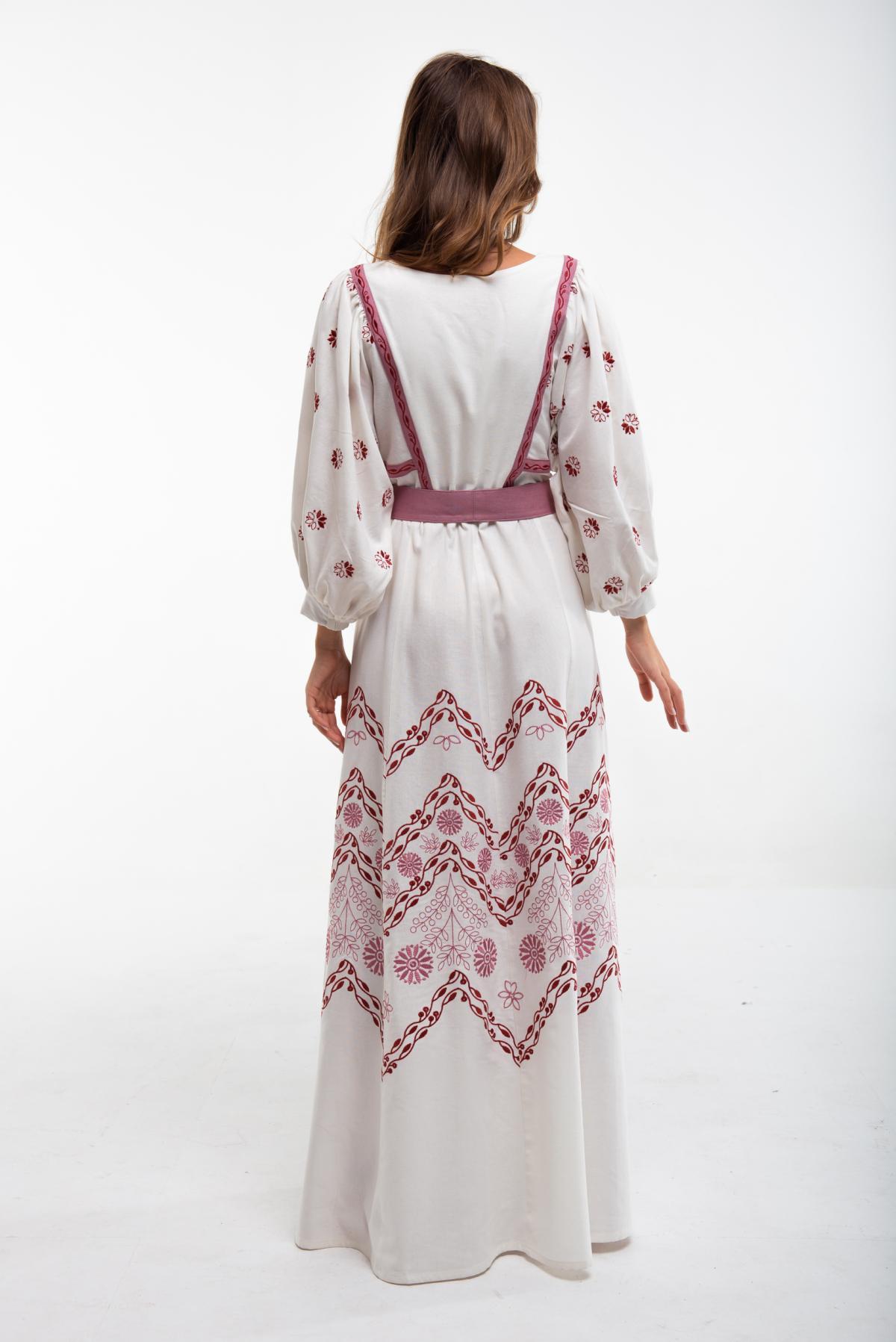 Платье вышитое молочное. Фото №3. | Народный дом Украина
