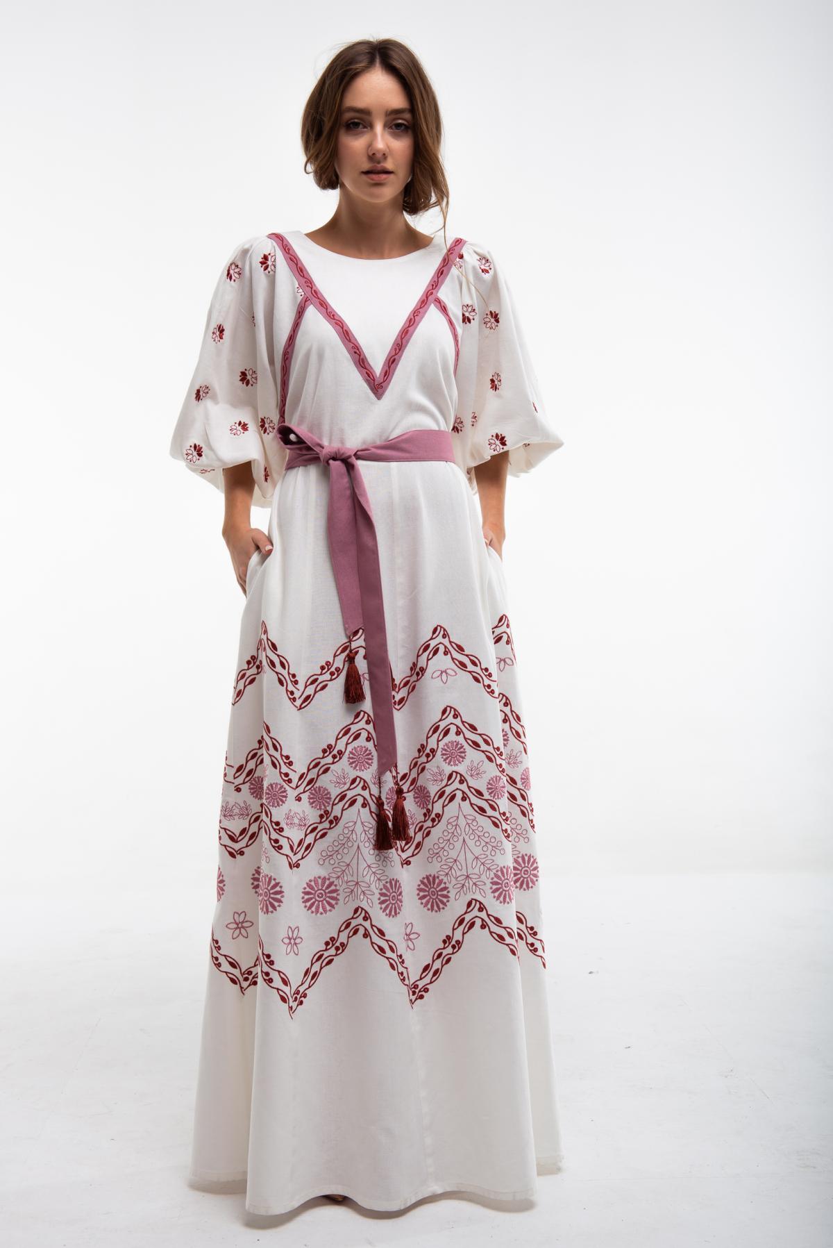 Embroidered milk dress