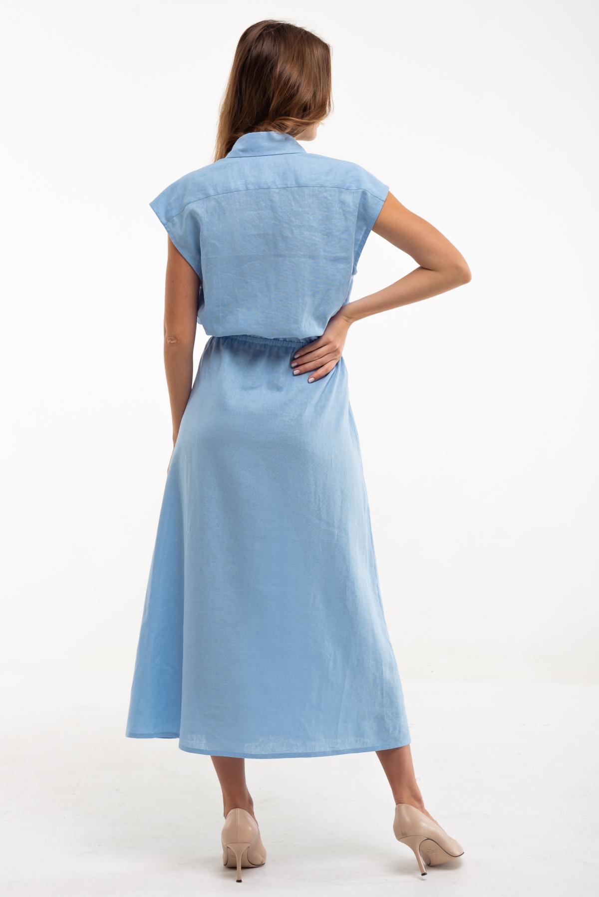 Dress with embroidery Sutsvittya light blue. Photo №3. | Narodnyi dim Ukraine