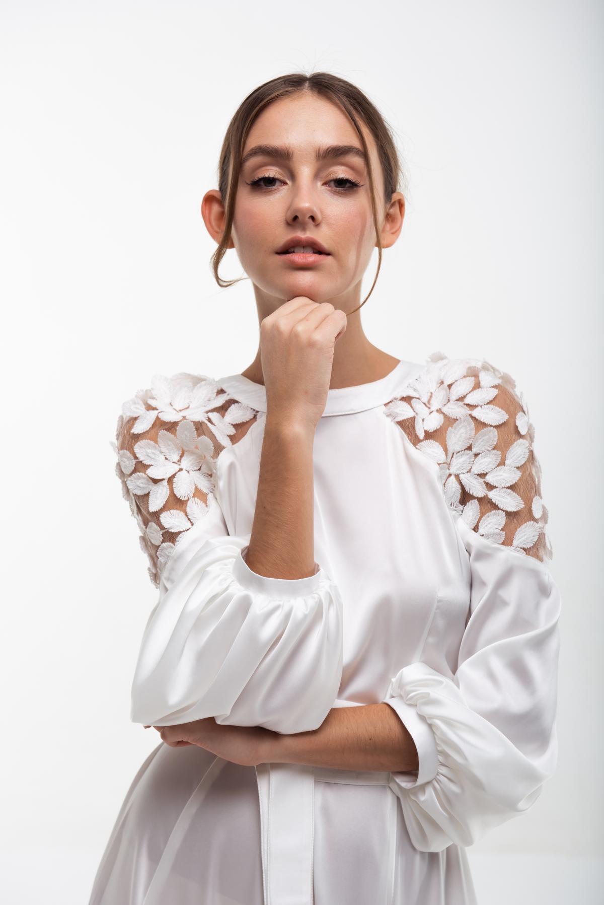 Вышитое белое платье Невеста. Фото №3. | Народный дом Украина