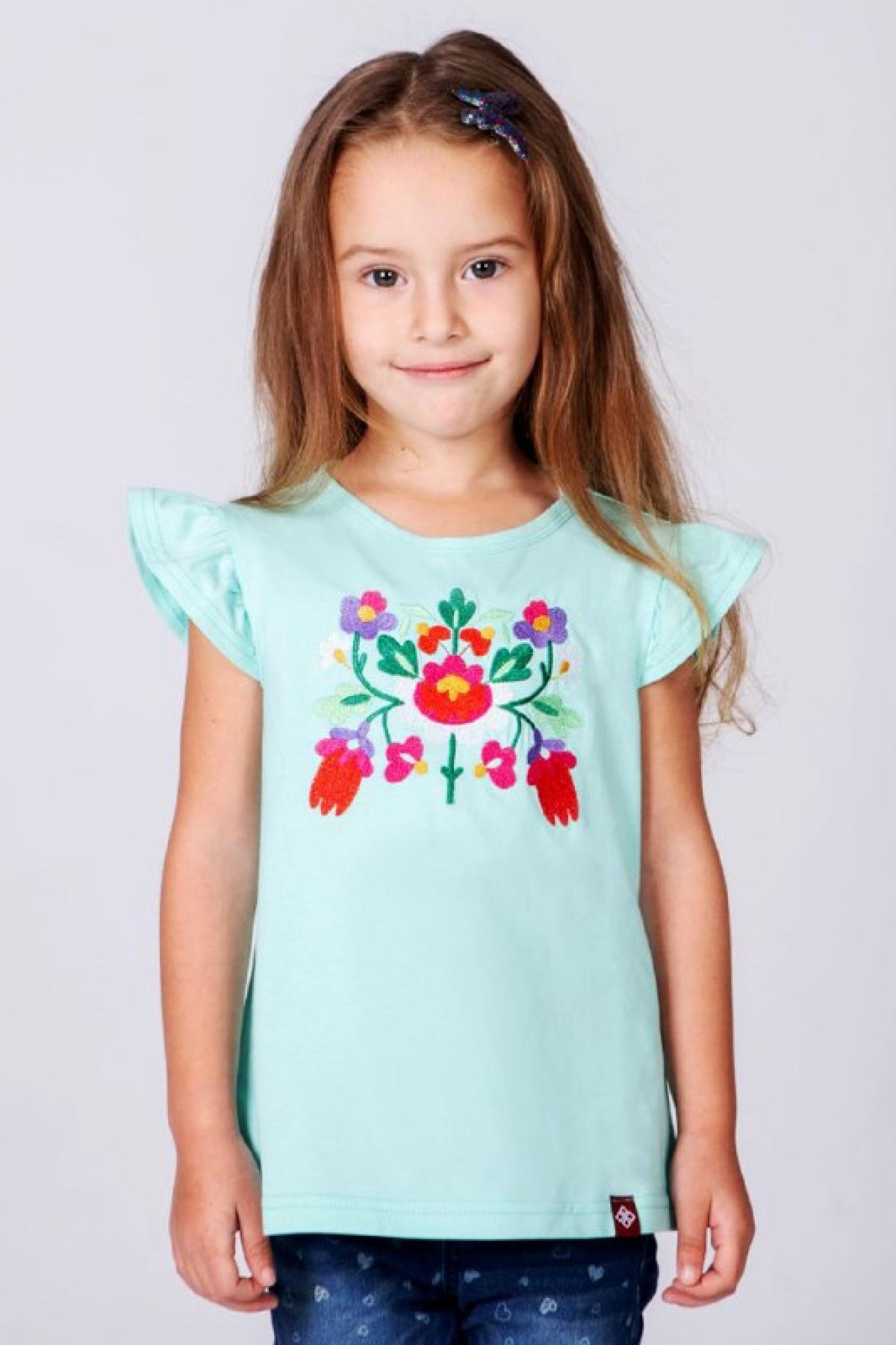 Дитяча вишита футболка для дівчинки. Фото №1. | Народний дім Україна