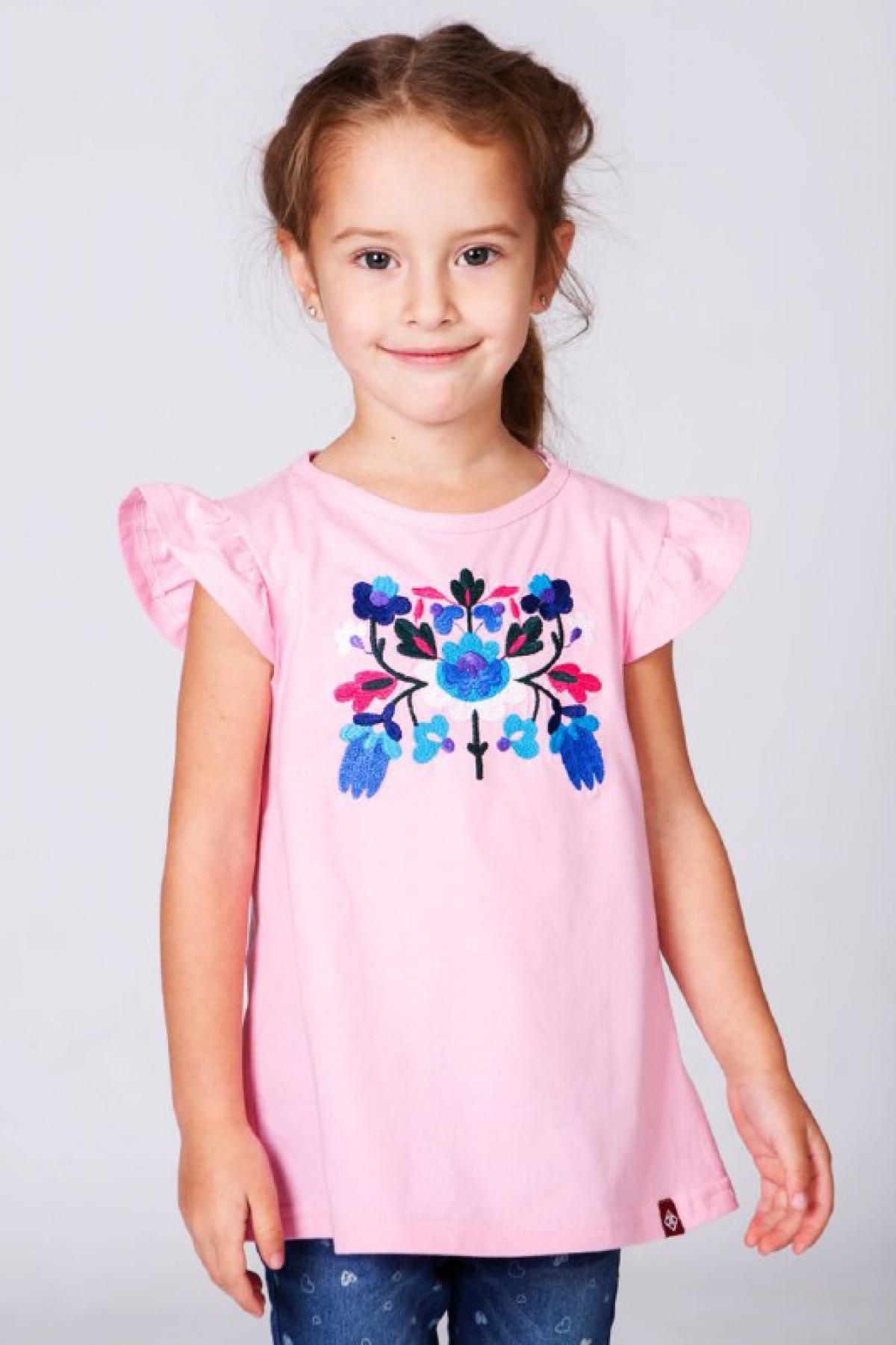 Children's T-shirt with embroidery for girl pink. Photo №1. | Narodnyi dim Ukraine