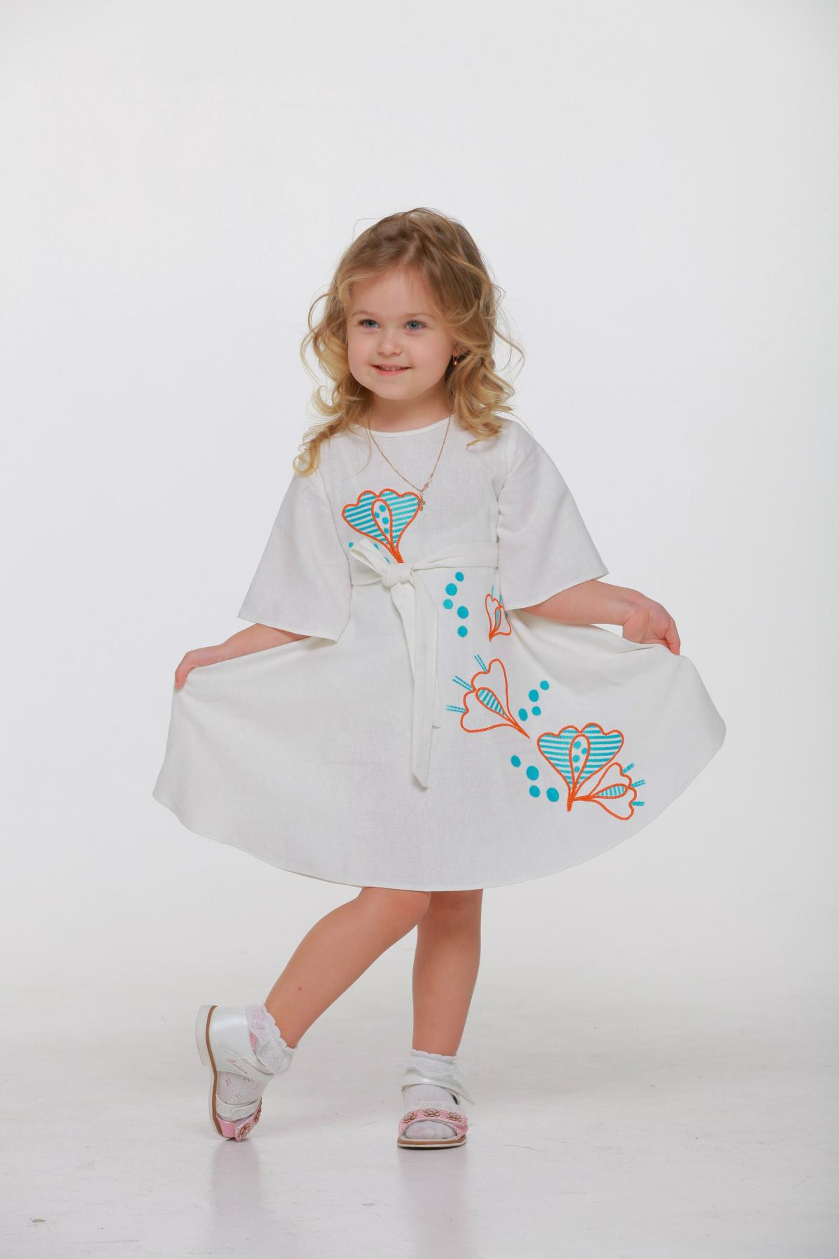 "Embroidered dress for girl ""Pervotsvet"". Photo №3. 