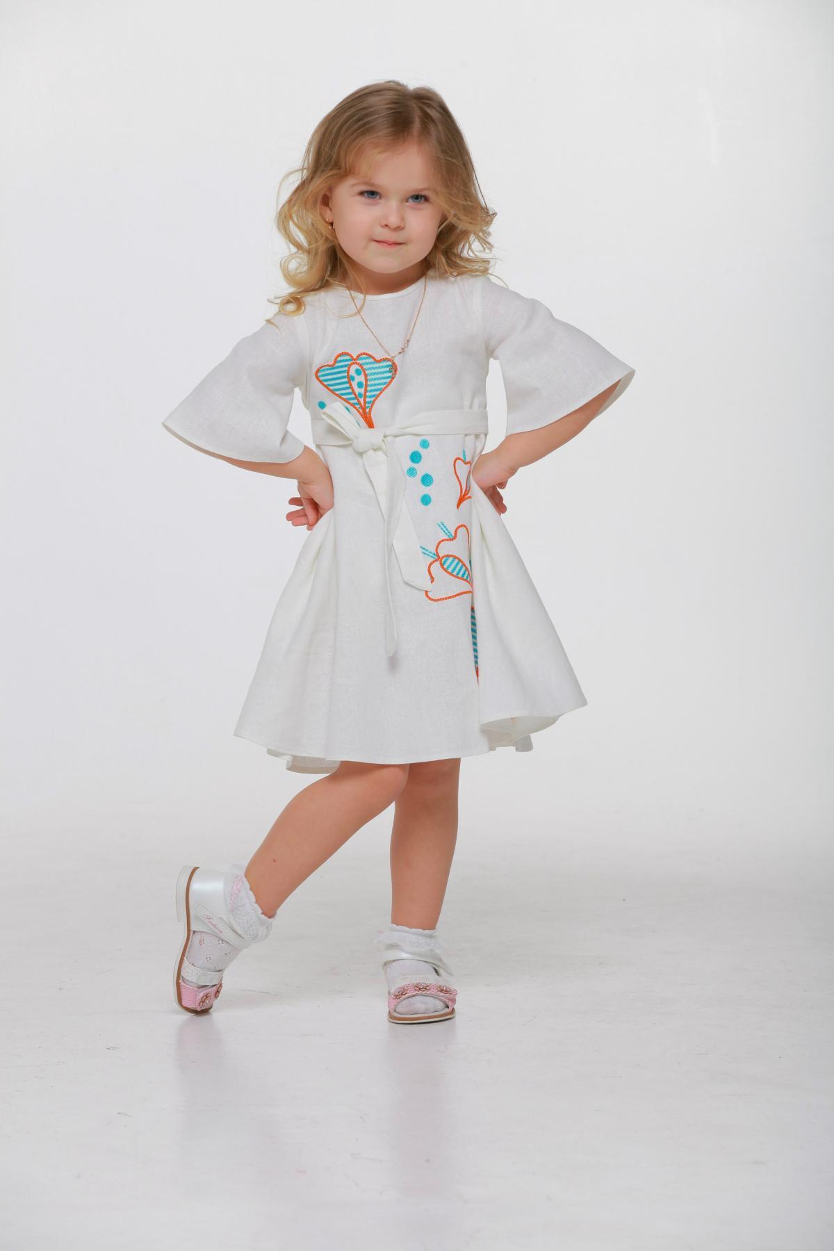 Дитяча вишита сукня біла. Фото №1. | Народний дім Україна