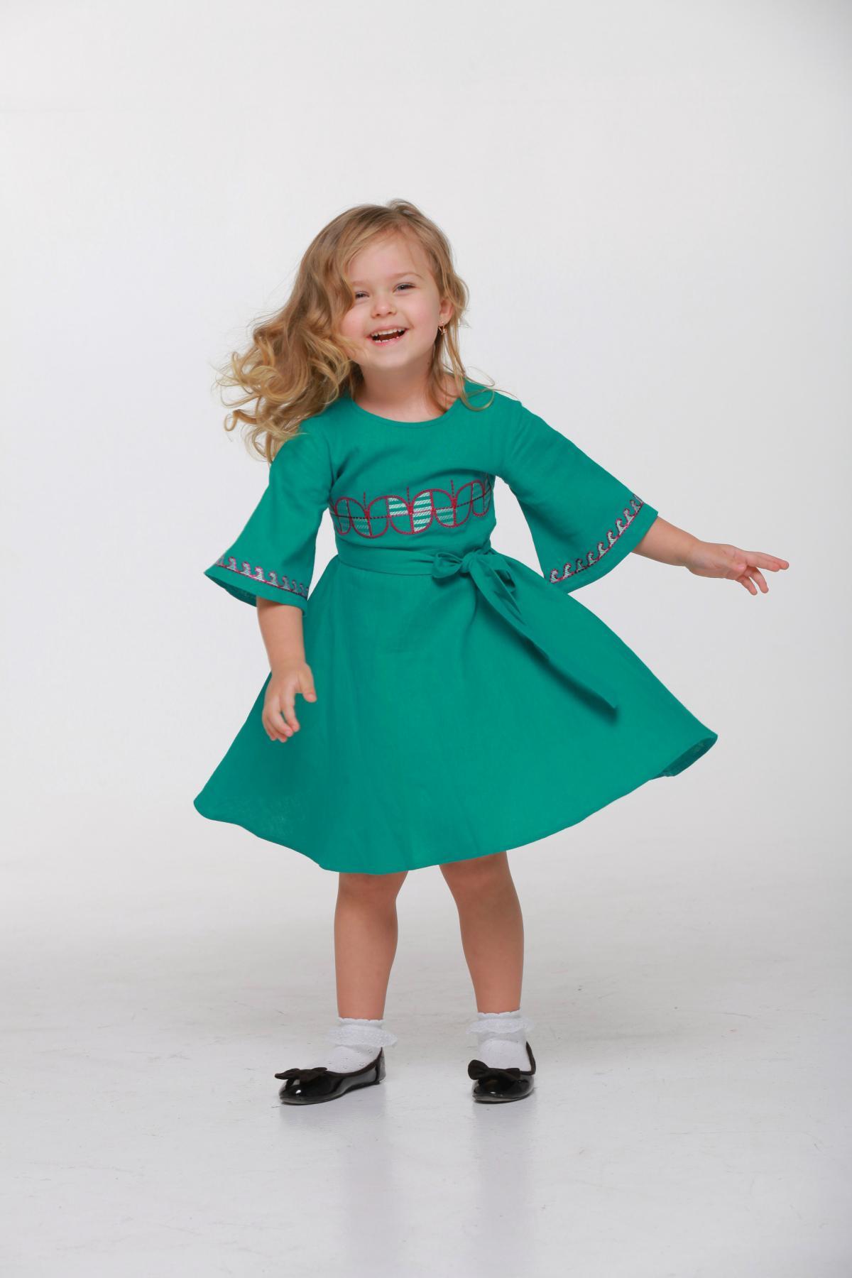 Дитяча вишита сукня зелена. Фото №1. | Народний дім Україна