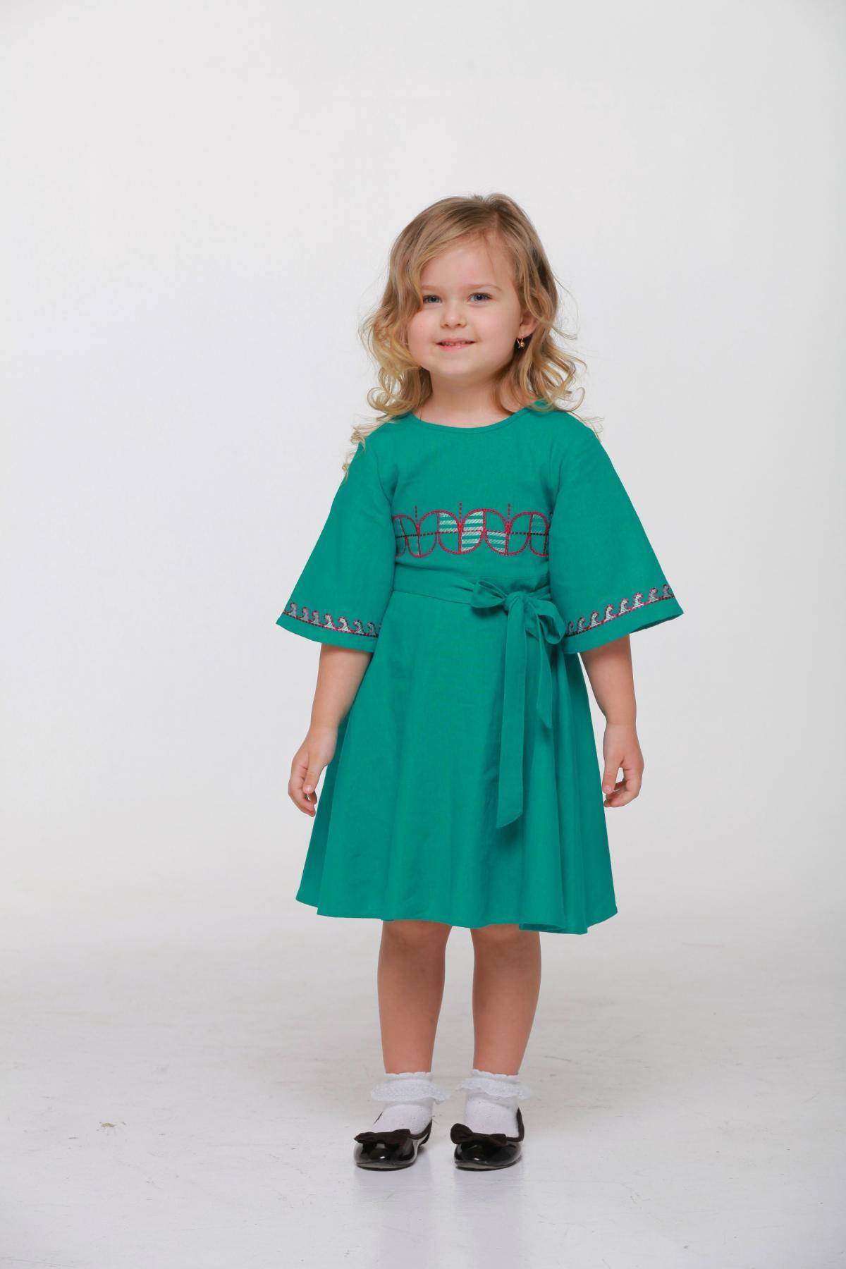 Дитяча вишита сукня зелена. Фото №2. | Народний дім Україна