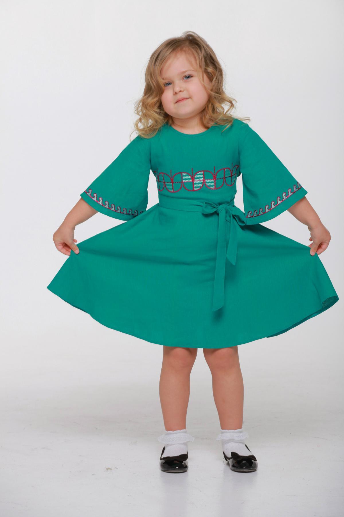 Дитяча вишита сукня зелена. Фото №3. | Народний дім Україна