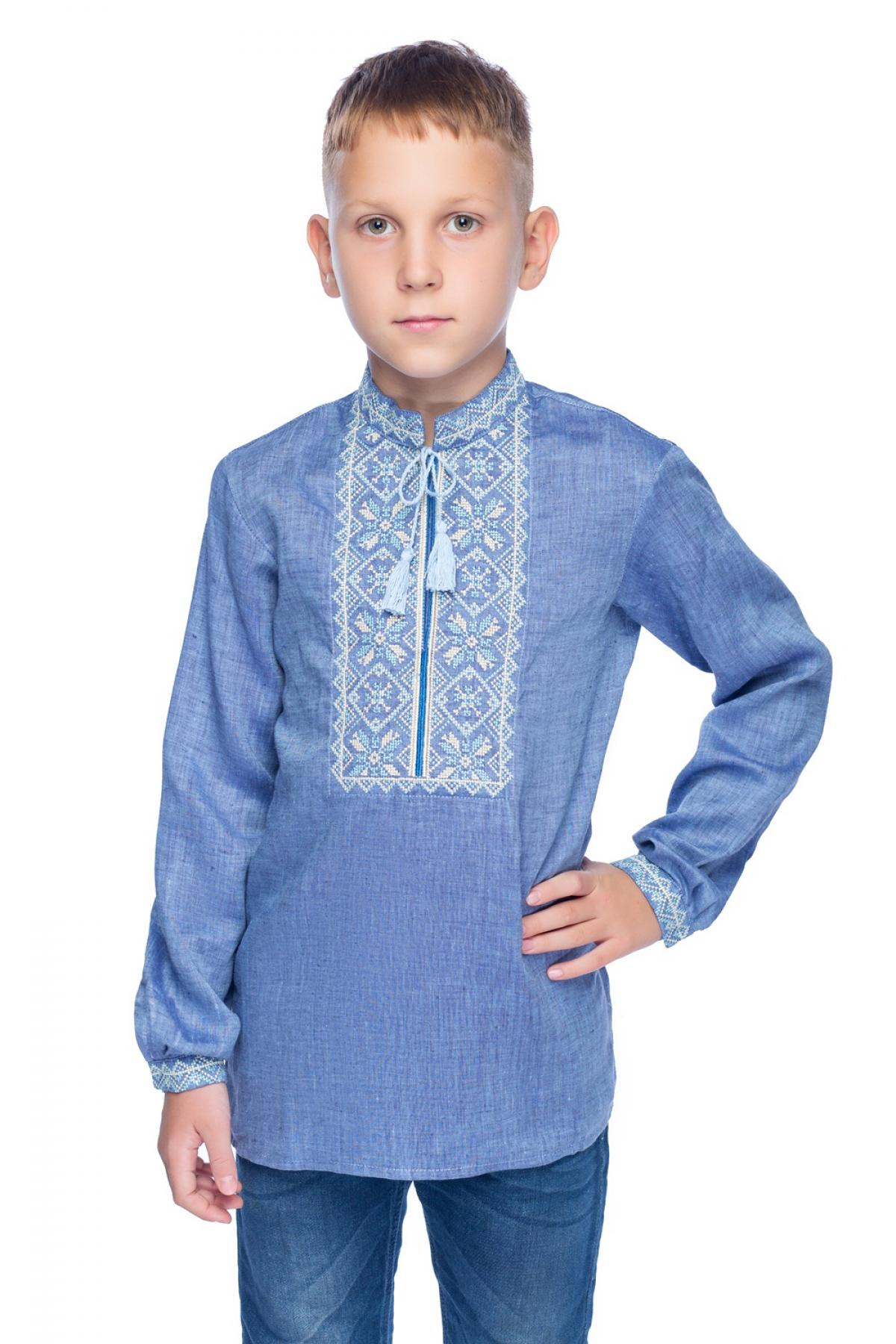 Denim embroidery for boy. Photo №1. | Narodnyi dim Ukraine