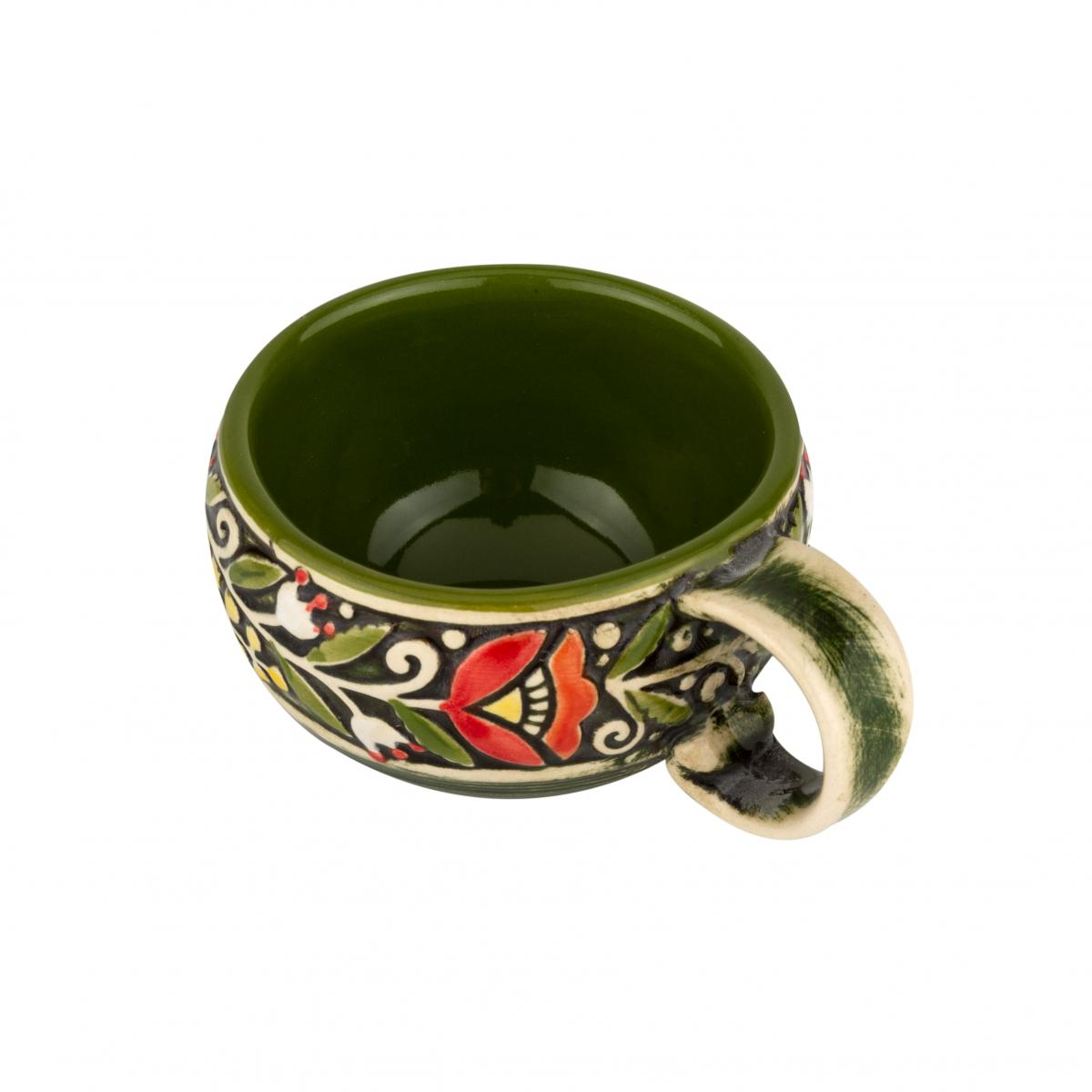 Coffee cup green. Photo №2. | Narodnyi dim Ukraine