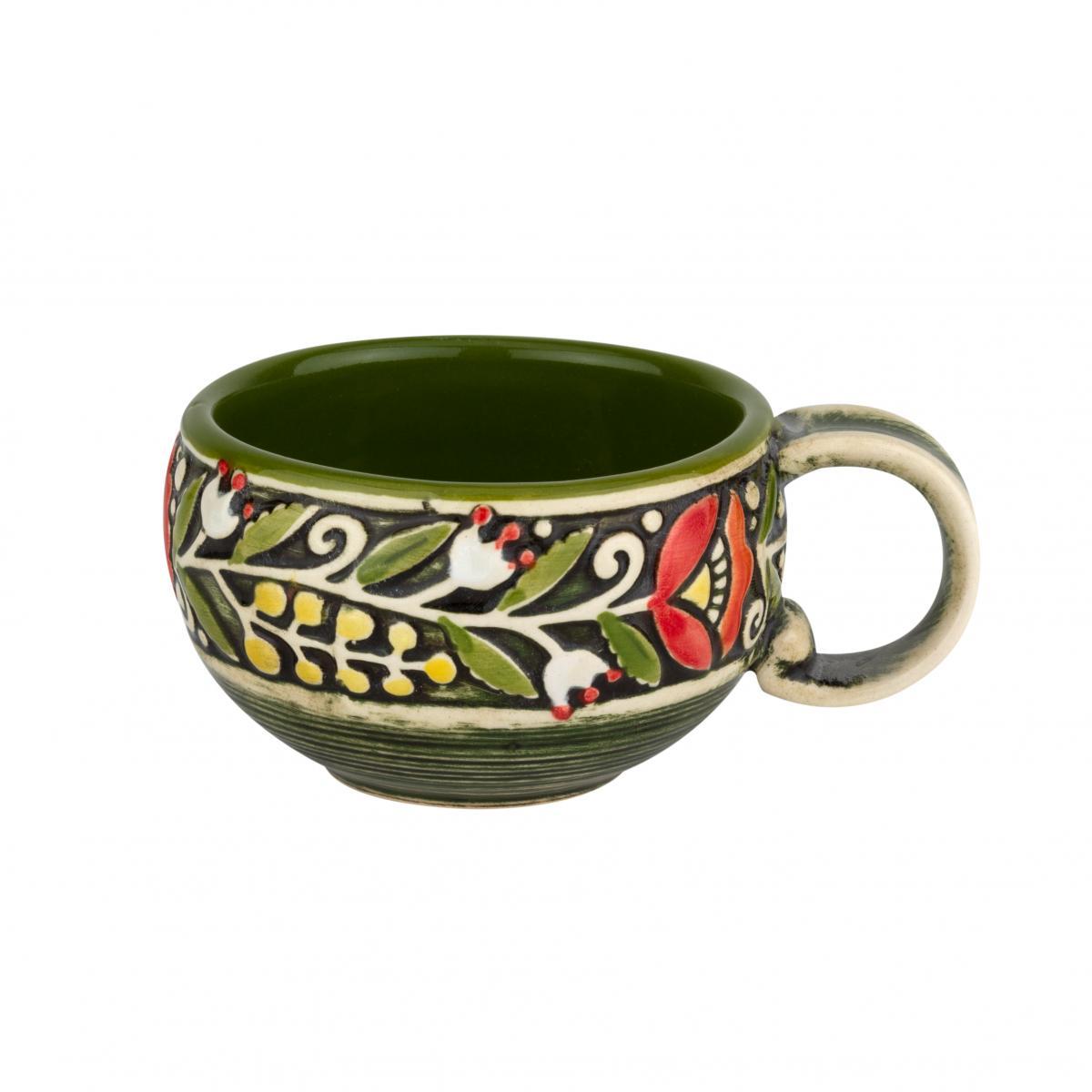 Coffee cup green. Photo №3. | Narodnyi dim Ukraine