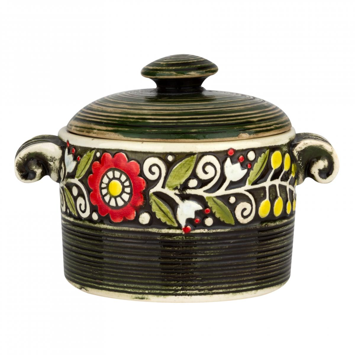Green ceramic pot. Photo №1. | Narodnyi dim Ukraine