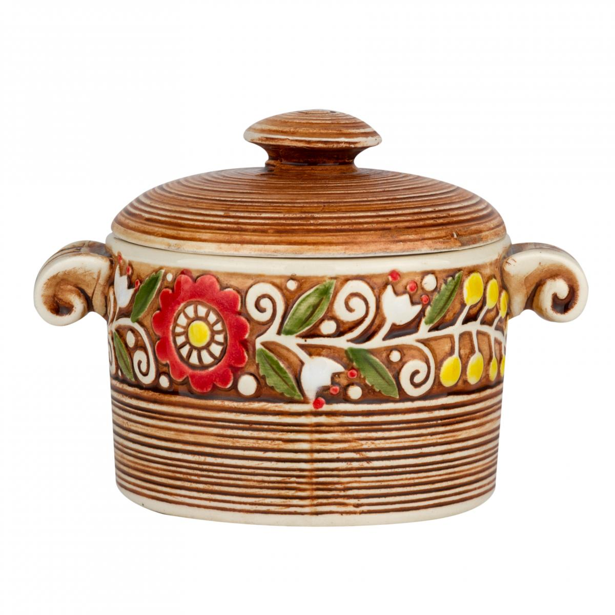 Orange ceramic pot. Photo №1. | Narodnyi dim Ukraine