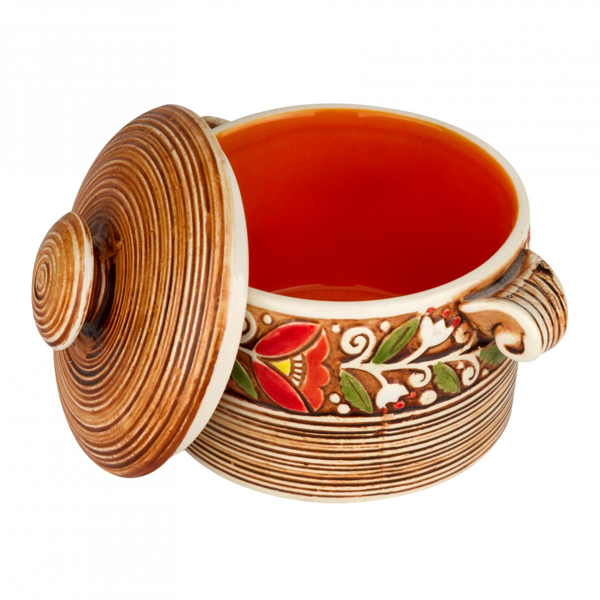 Orange ceramic pot. Photo №2. | Narodnyi dim Ukraine