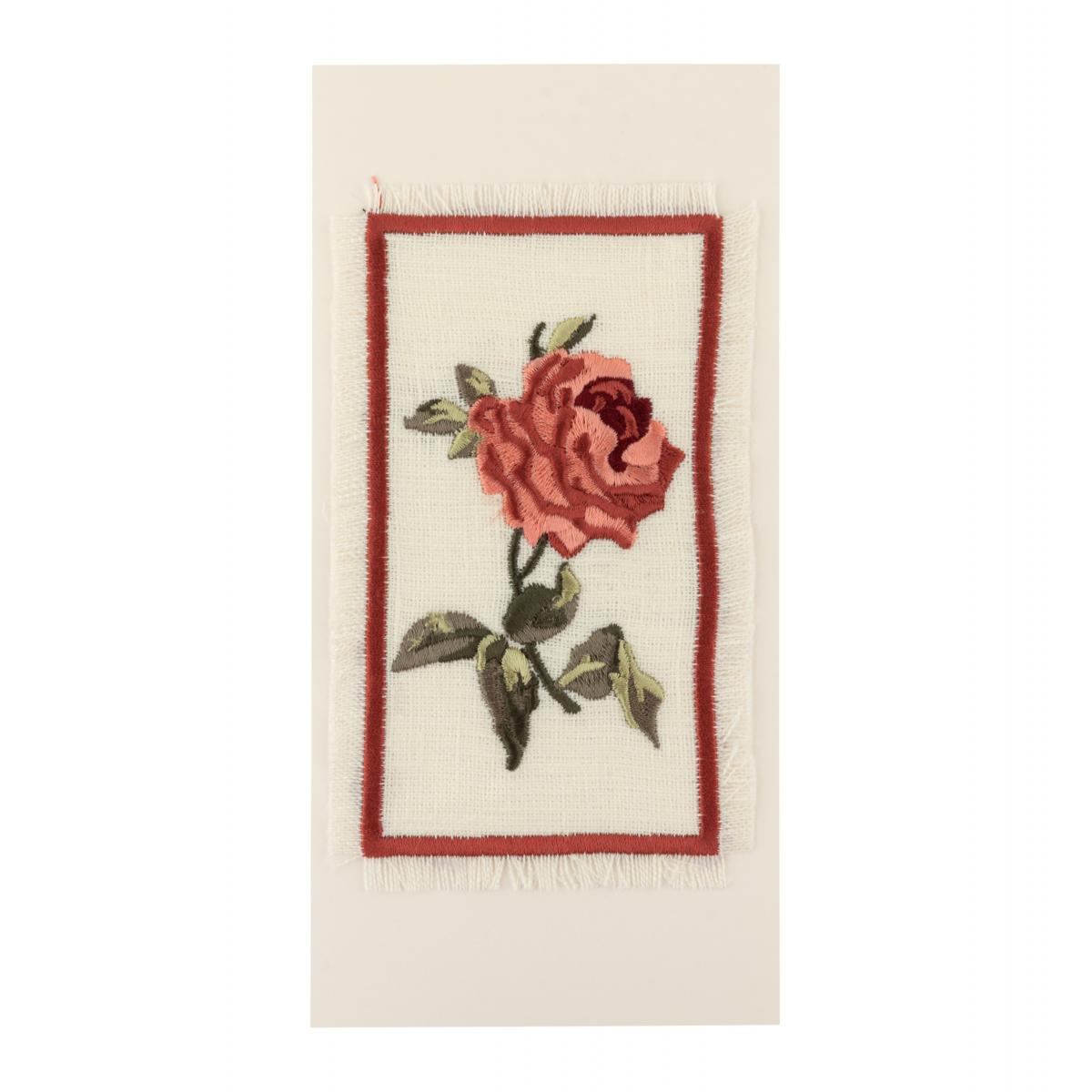 Postcard with embroidered rose. Photo №1. | Narodnyi dim Ukraine