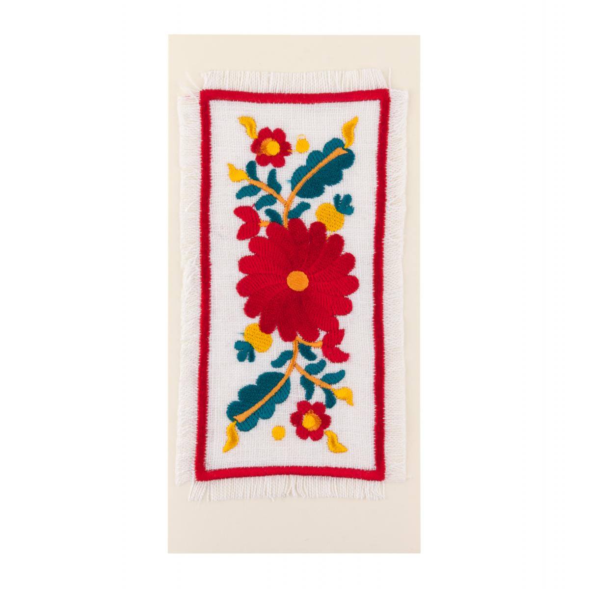 Postcard with embroidered floral pattern. Photo №1. | Narodnyi dim Ukraine