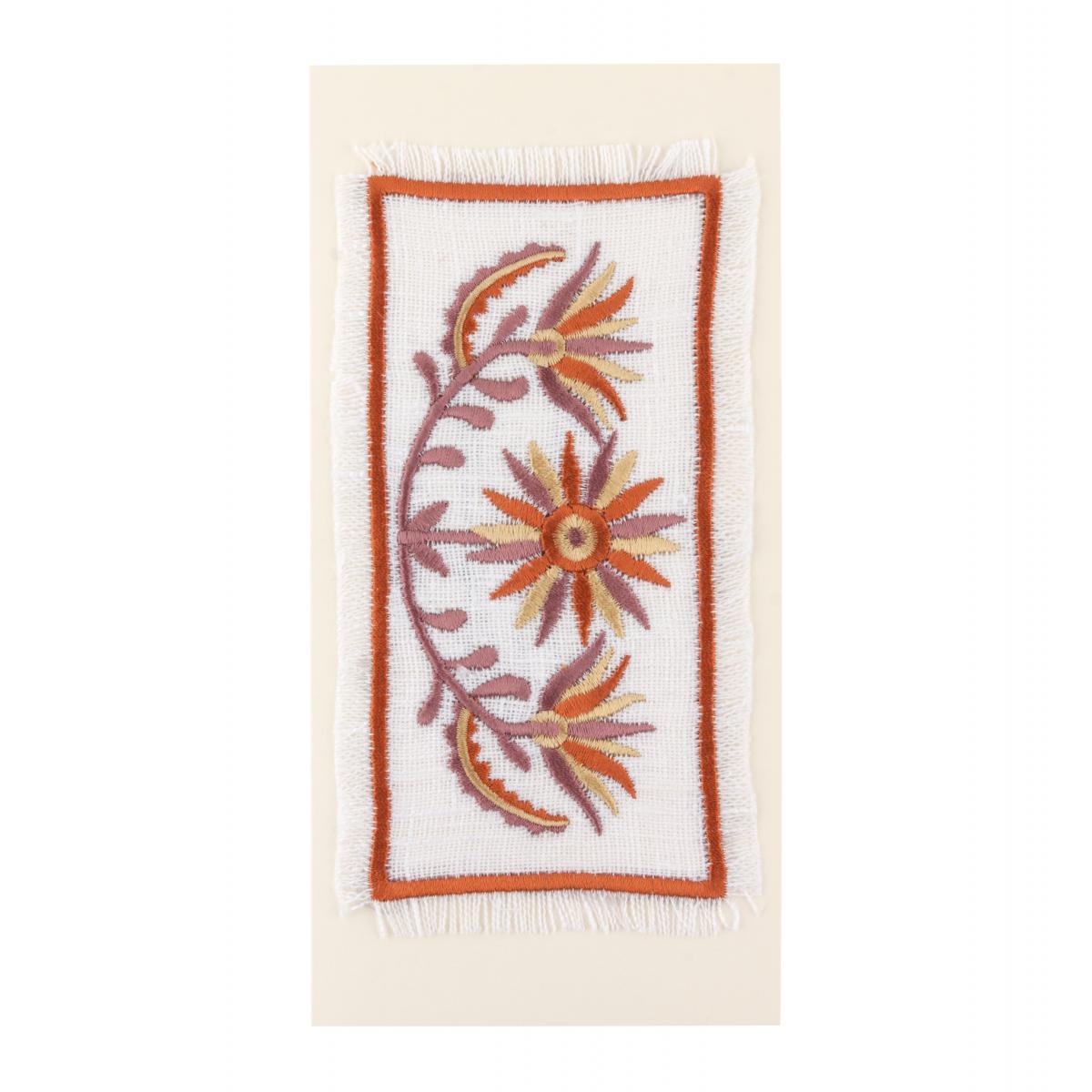 Postcard with embroidered flower branch. Photo №1. | Narodnyi dim Ukraine