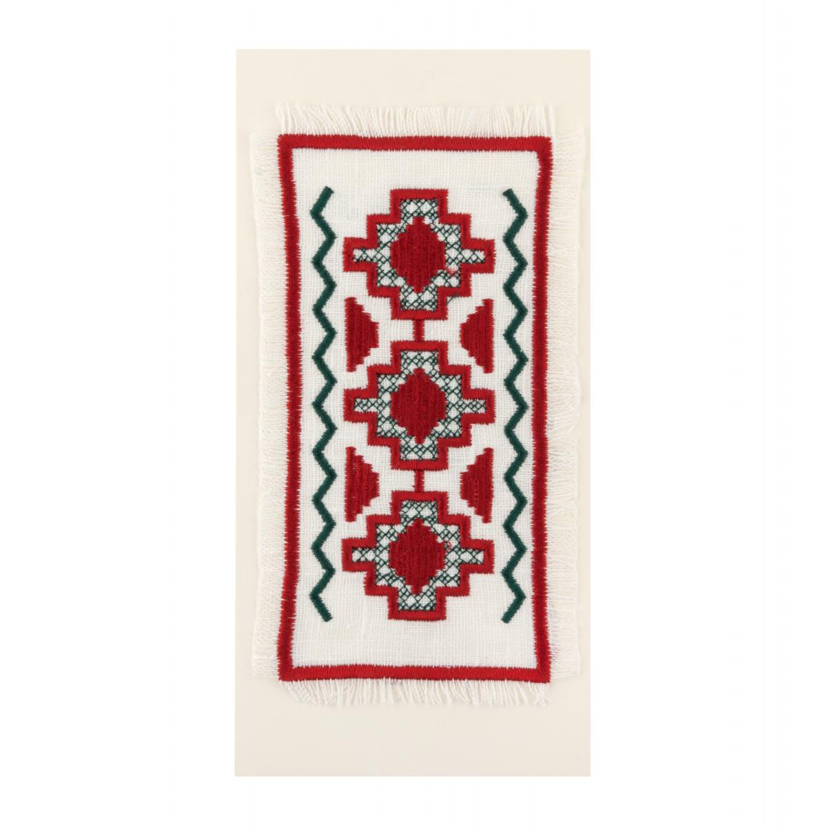 Postcard with red-green embroidery. Photo №1. | Narodnyi dim Ukraine