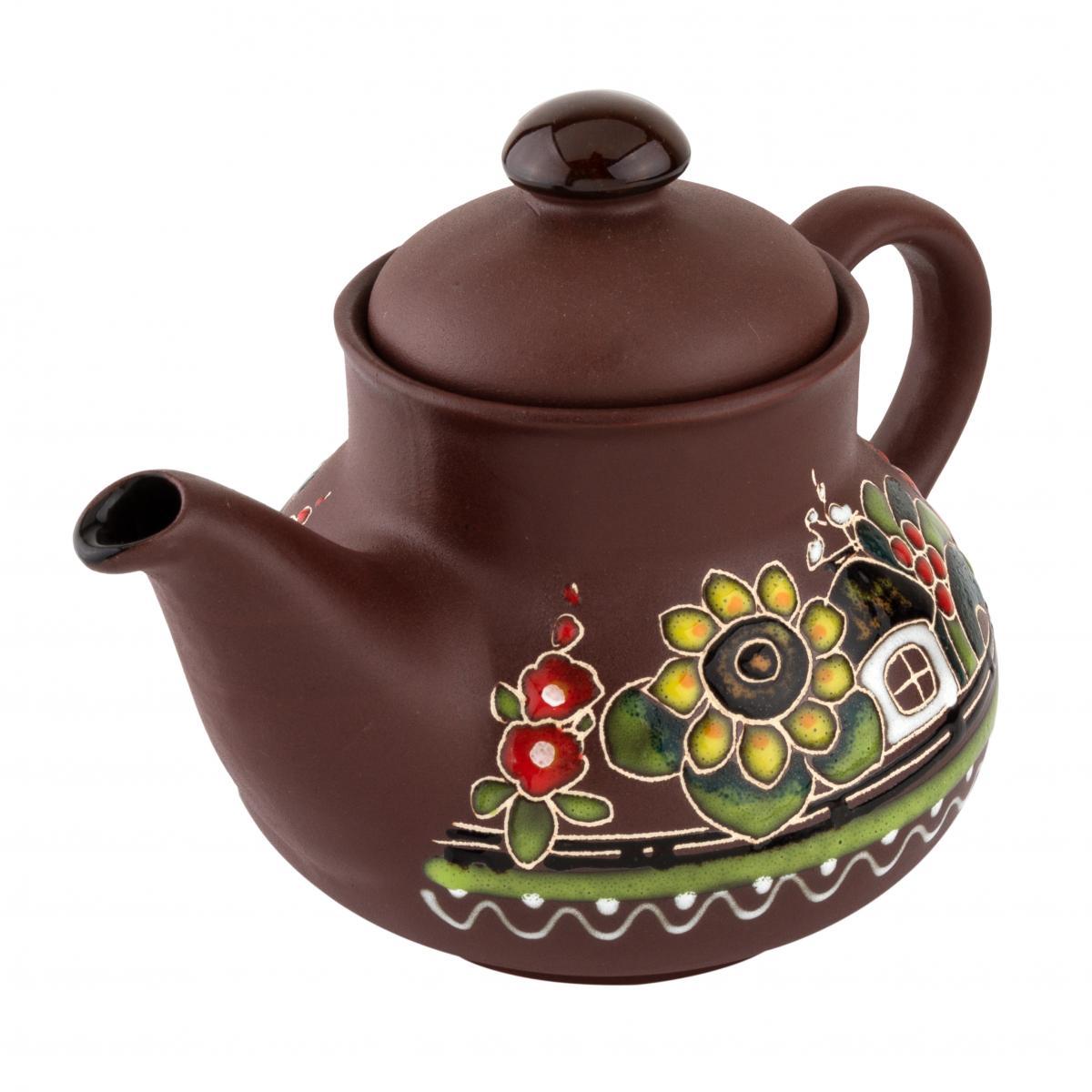 Керамический чайник Хуторок 0.7 л. Фото №2. | Народный дом Украина