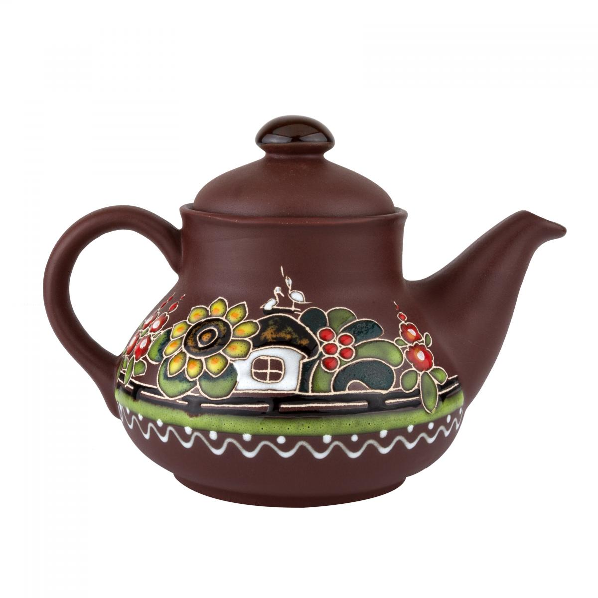 Керамічний чайник Хуторок 0.7 л. Фото №1. | Народний дім Україна