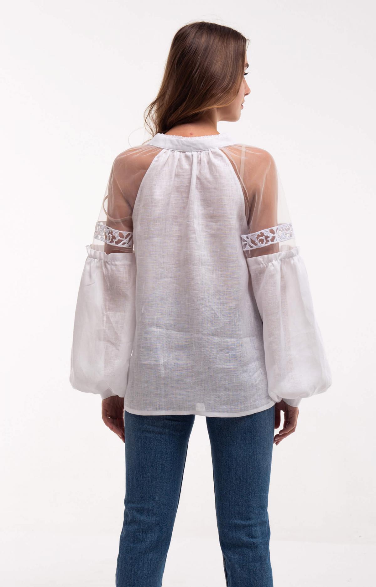 Рубашка белая с легкими нежными рукавами. Фото №4. | Народный дом Украина