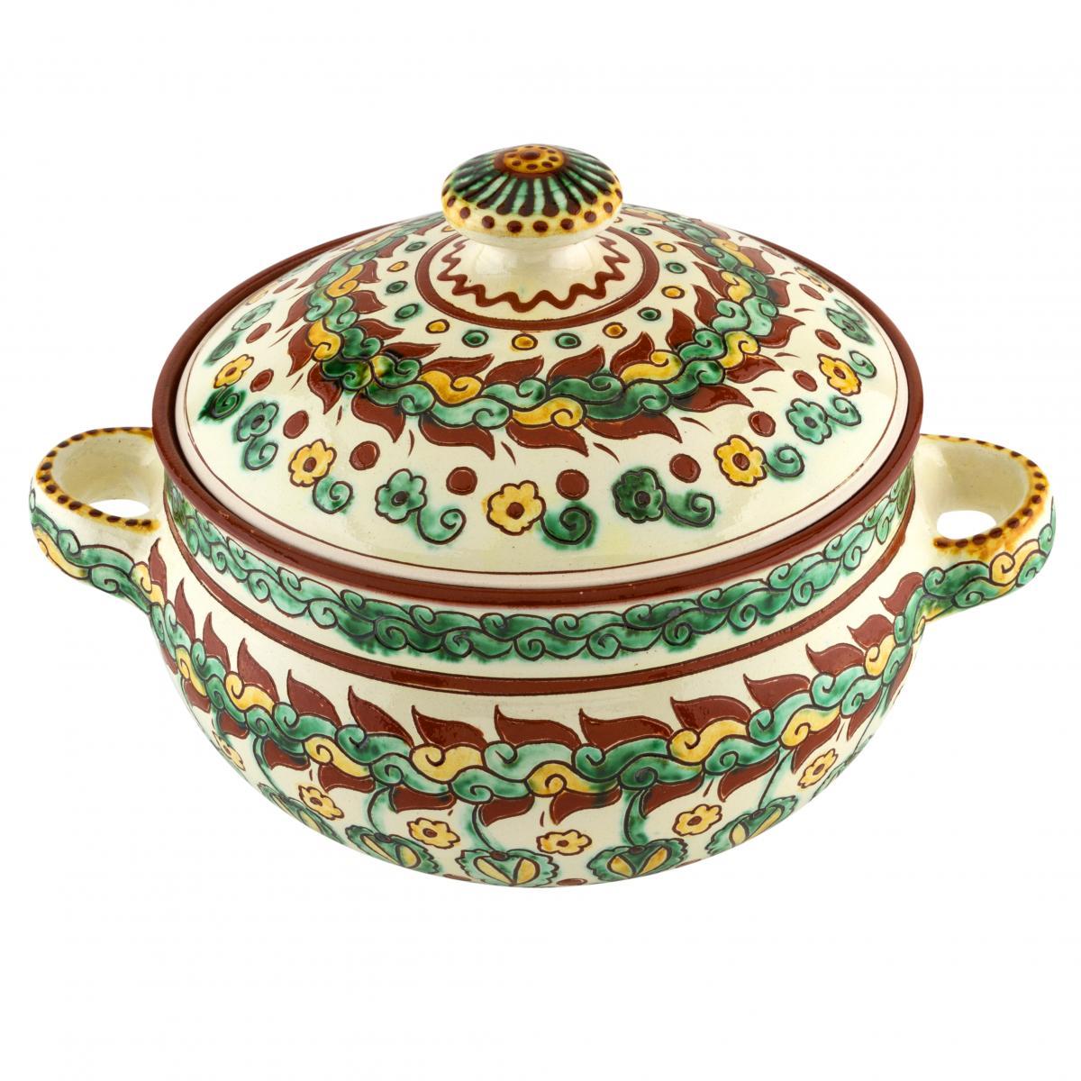 Pan with handles and lid of handmade ceramics. Photo №1. | Narodnyi dim Ukraine