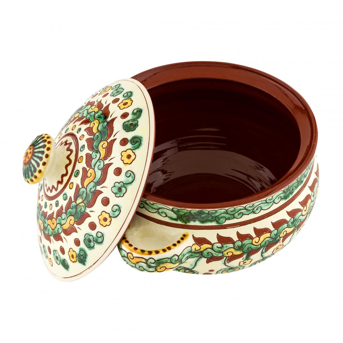 Pan with handles and lid of handmade ceramics. Photo №2. | Narodnyi dim Ukraine