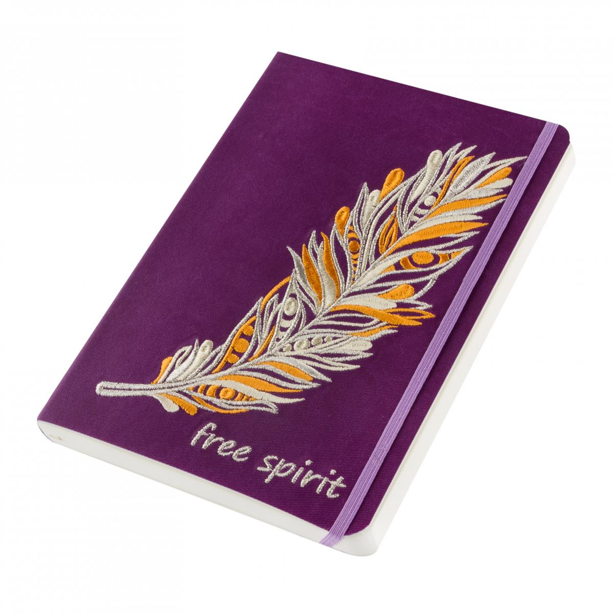 Notebook with embroidered feather Free spirit. Photo №2. | Narodnyi dim Ukraine