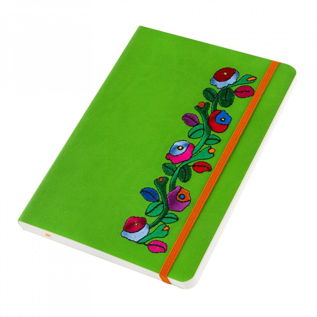 Зеленый блокнот с вышивкой. Фото №4. | Народный дом Украина