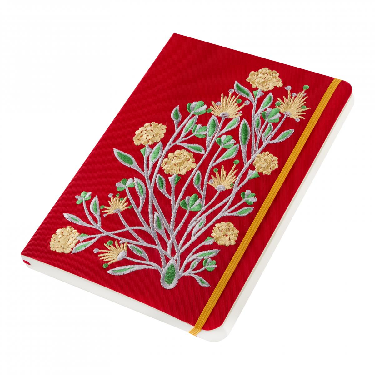 Eco-leather notebook with embroidery Elven flower, red. Photo №2. | Narodnyi dim Ukraine