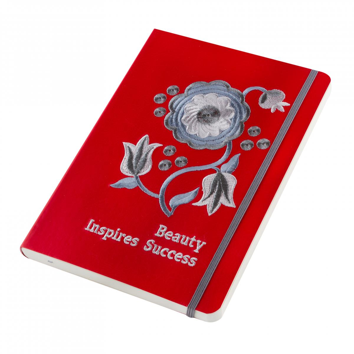 Red notebook with embroidery Beauty inspires success. Photo №4. | Narodnyi dim Ukraine