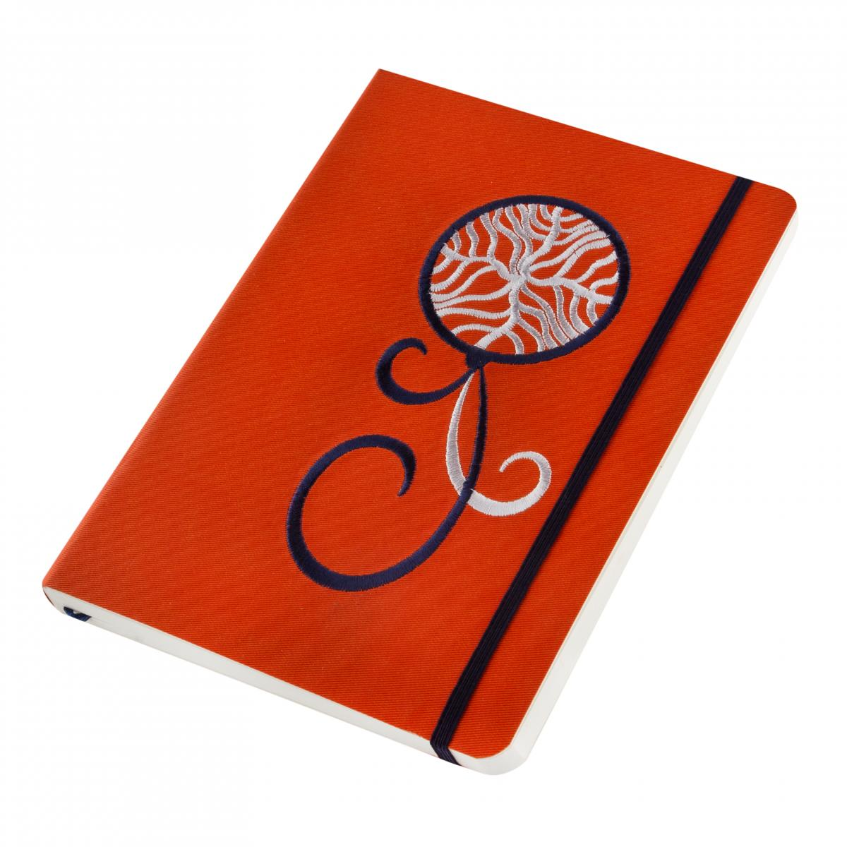 Eco-leather notebook with embroidered Dream catcher, orange. Photo №2. | Narodnyi dim Ukraine
