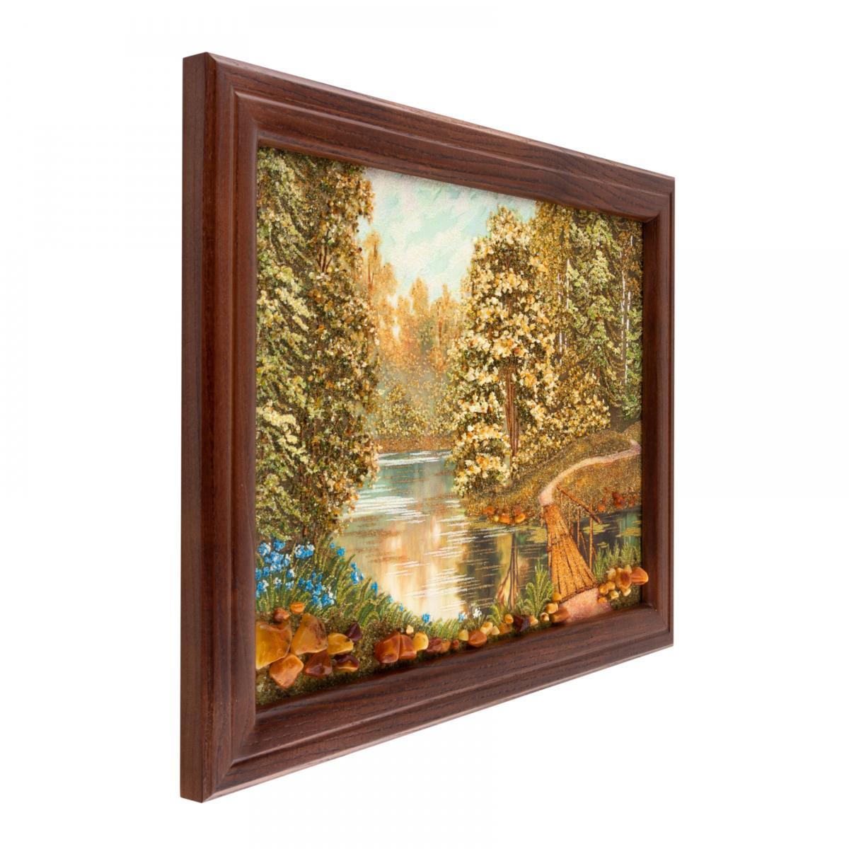 Картина з бурштину Лісова річка. Фото №2. | Народний дім Україна