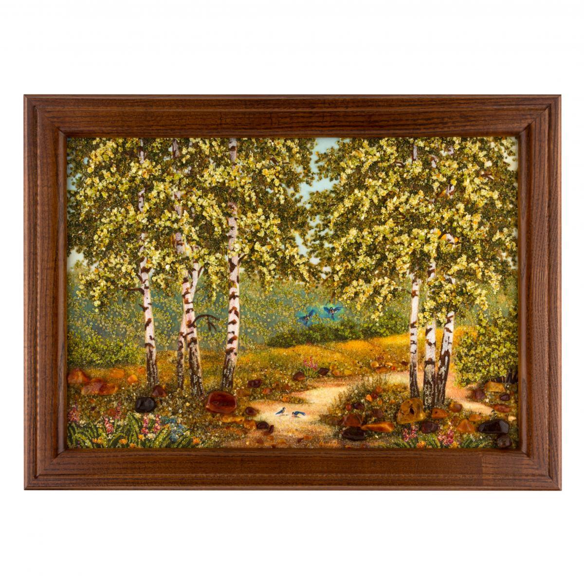 Картина з бурштину Березова роща