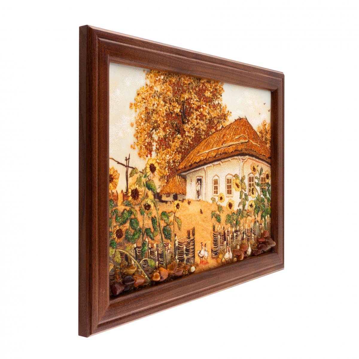 Картина из янтаря Украинский домик. Фото №2. | Народный дом Украина