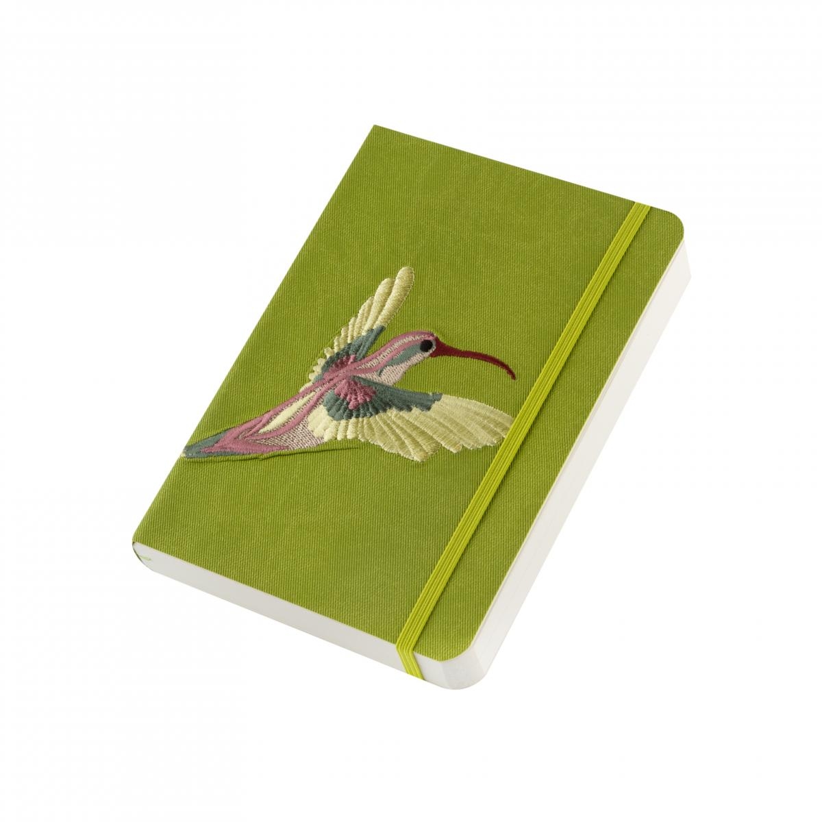 "Eco-leather notebook with embroidery ""Stork"", green. Photo №2. 