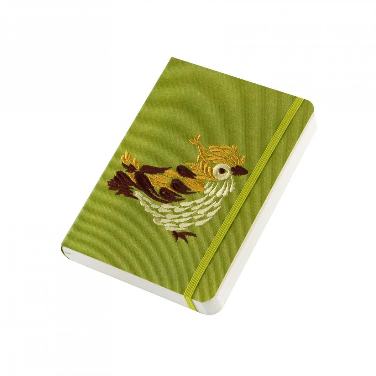 Блокнот из эко-кожи с вышивкой, зеленый. Фото №2. | Народный дом Украина