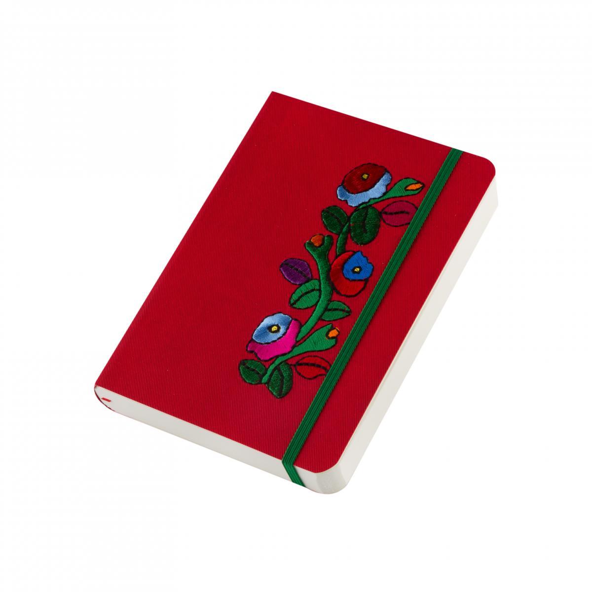 "Eco-leather notebook with embroidery ""Borshchivka"", red. Photo №2. | Narodnyi dim Ukraine"