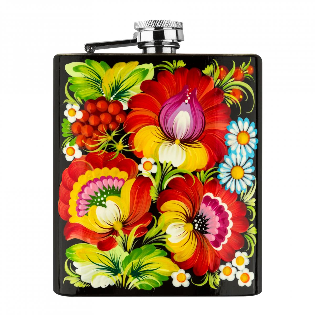 Hand-painted flask in the technique of Petrykivsky painting (in assortment). Photo №2. | Narodnyi dim Ukraine