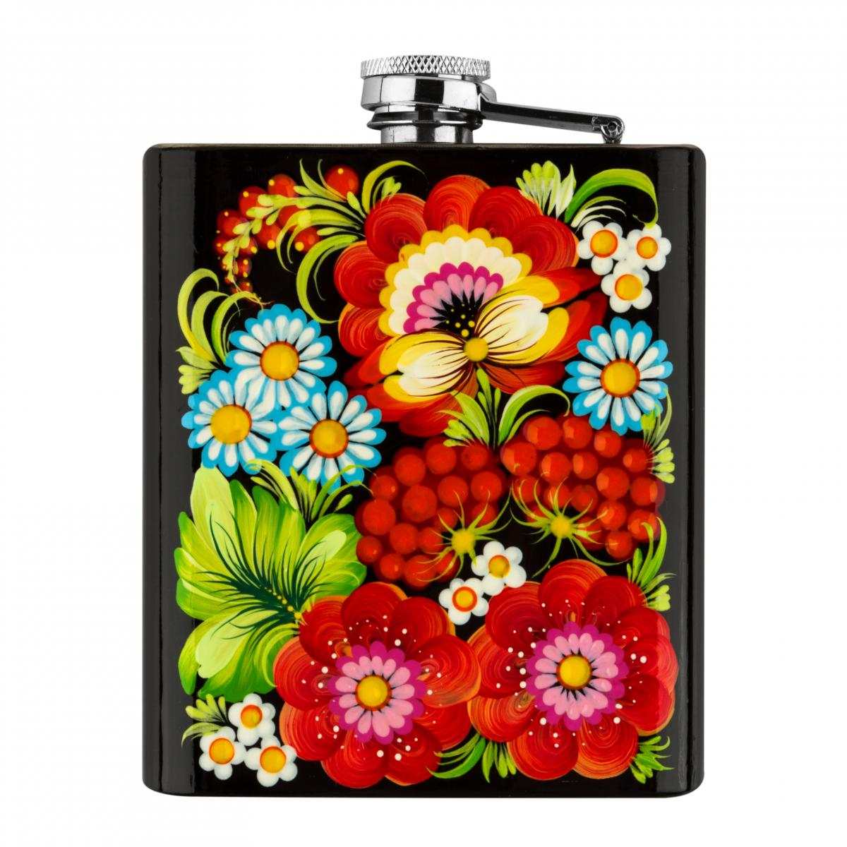 Hand-painted flask in the technique of Petrykivsky painting (in assortment). Photo №3. | Narodnyi dim Ukraine