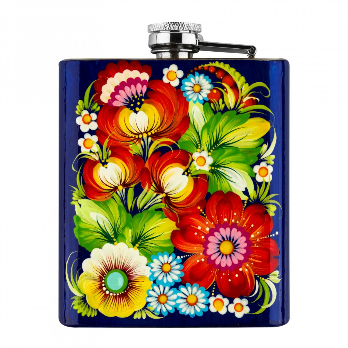 Hand-painted flask in the technique of Petrykivsky painting (in assortment). Photo №4. | Narodnyi dim Ukraine