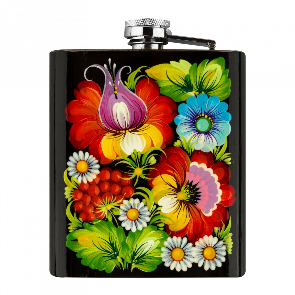 Hand-painted flask in the technique of Petrykivsky painting (in assortment). Photo №5. | Narodnyi dim Ukraine