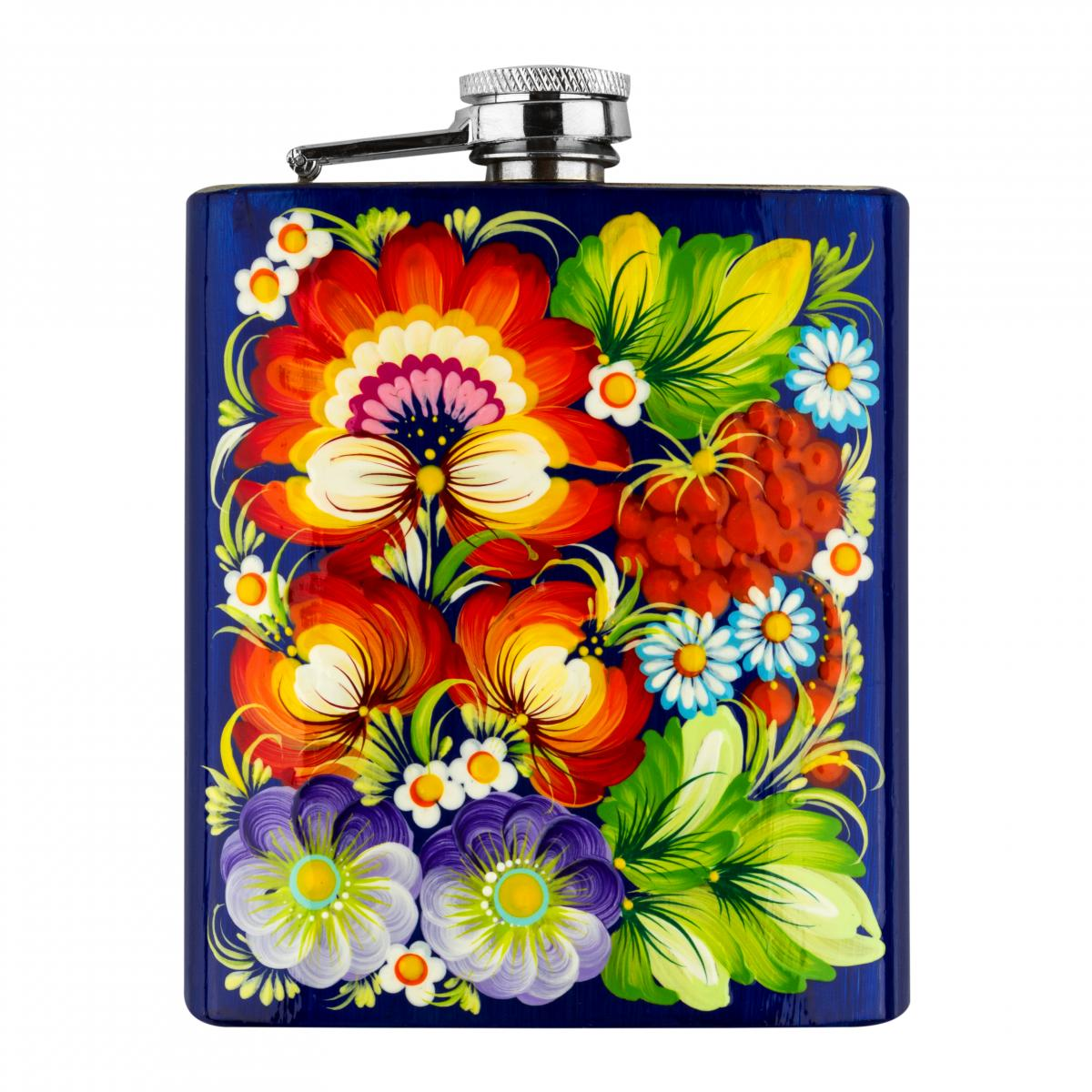 Hand-painted flask in the technique of Petrykivsky painting (in assortment). Photo №6. | Narodnyi dim Ukraine