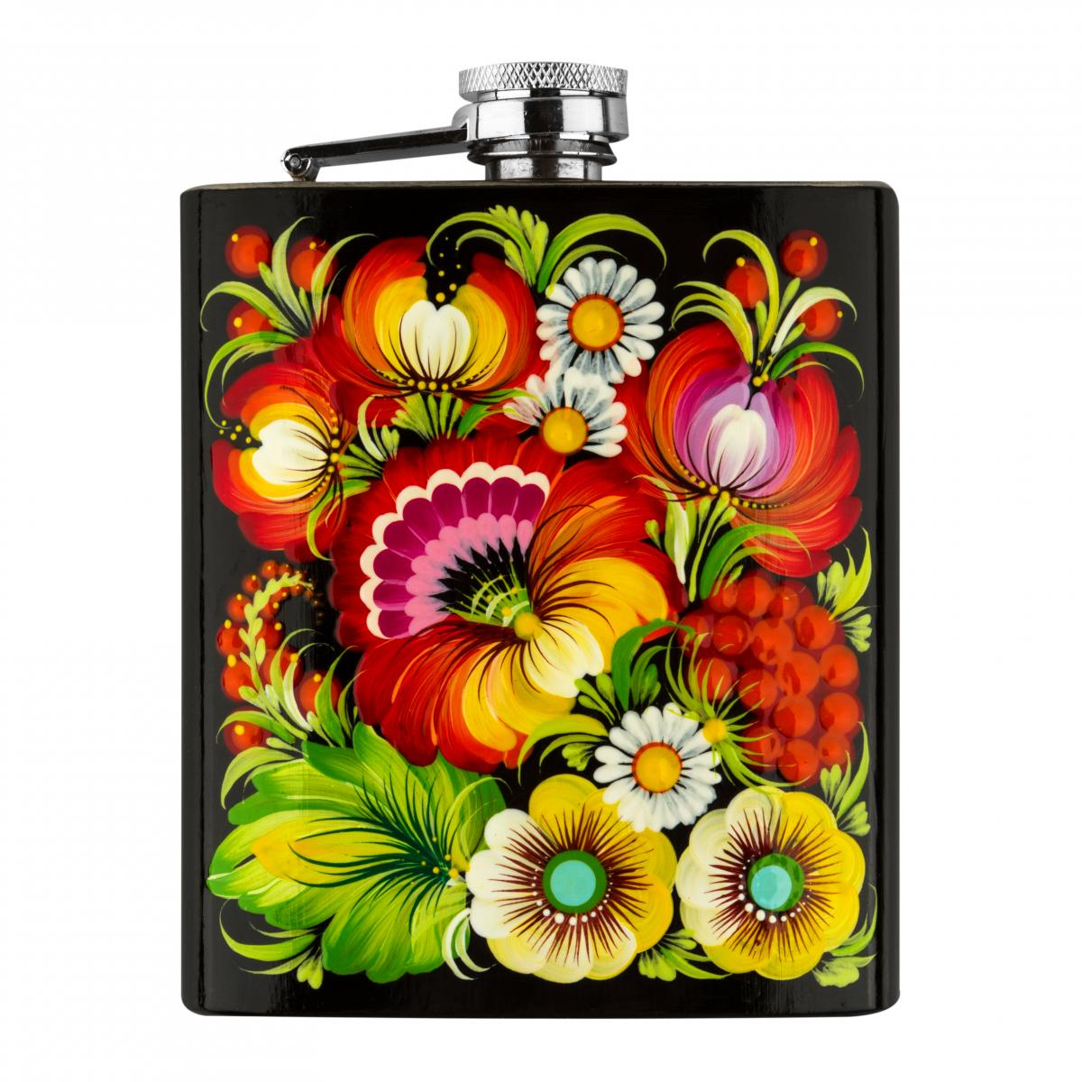 Hand-painted flask in the technique of Petrykivsky painting (in assortment). Photo №1. | Narodnyi dim Ukraine
