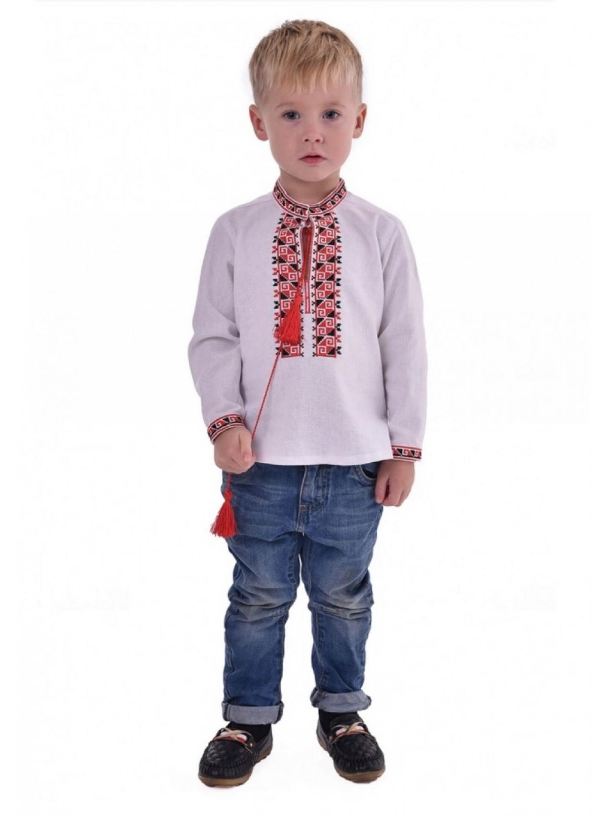 Embroidery for the boy, embroidered with red and black threads. Photo №1. | Narodnyi dim Ukraine