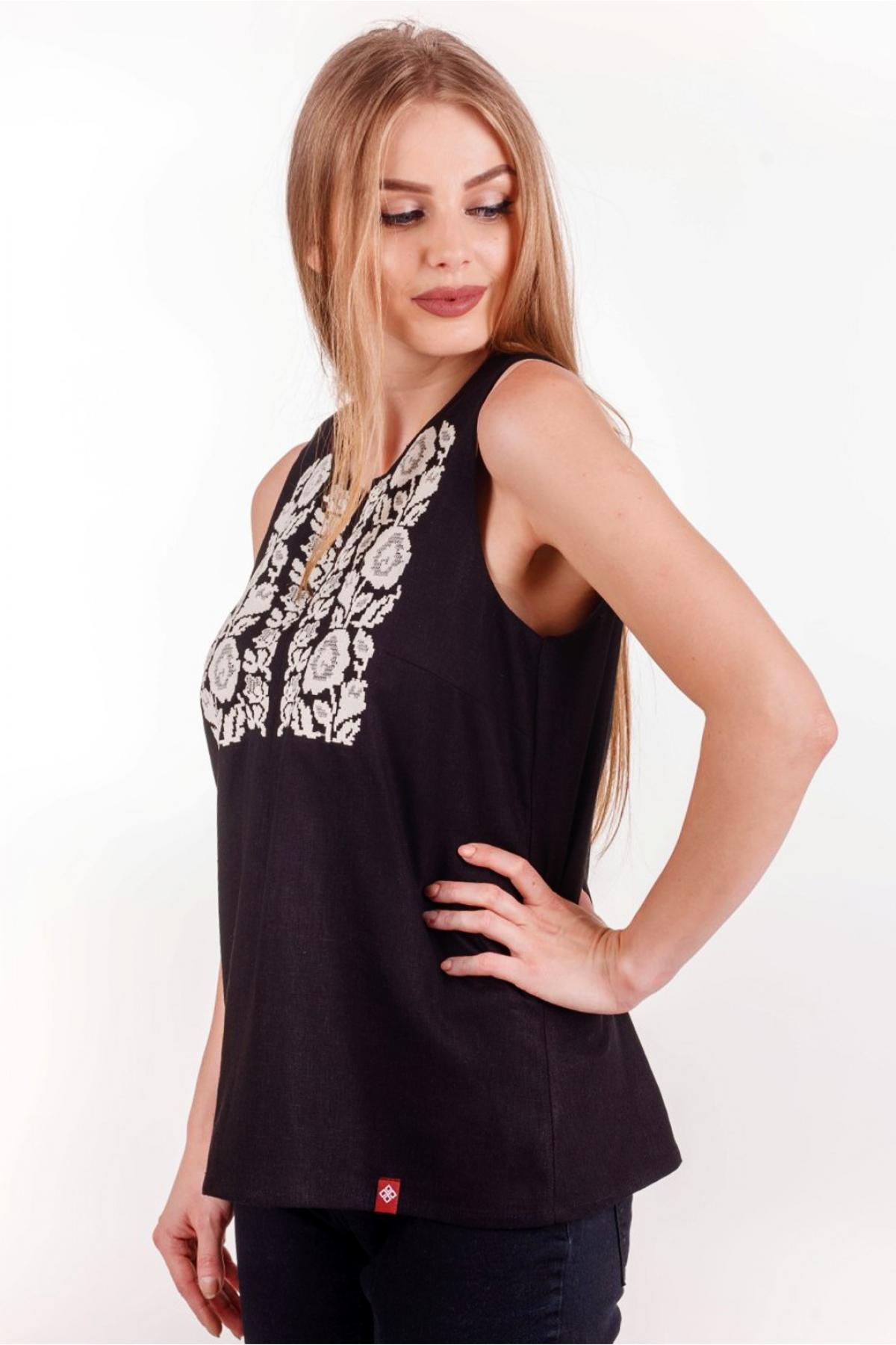 Black sleeveless embroidery. Photo №4. | Narodnyi dim Ukraine