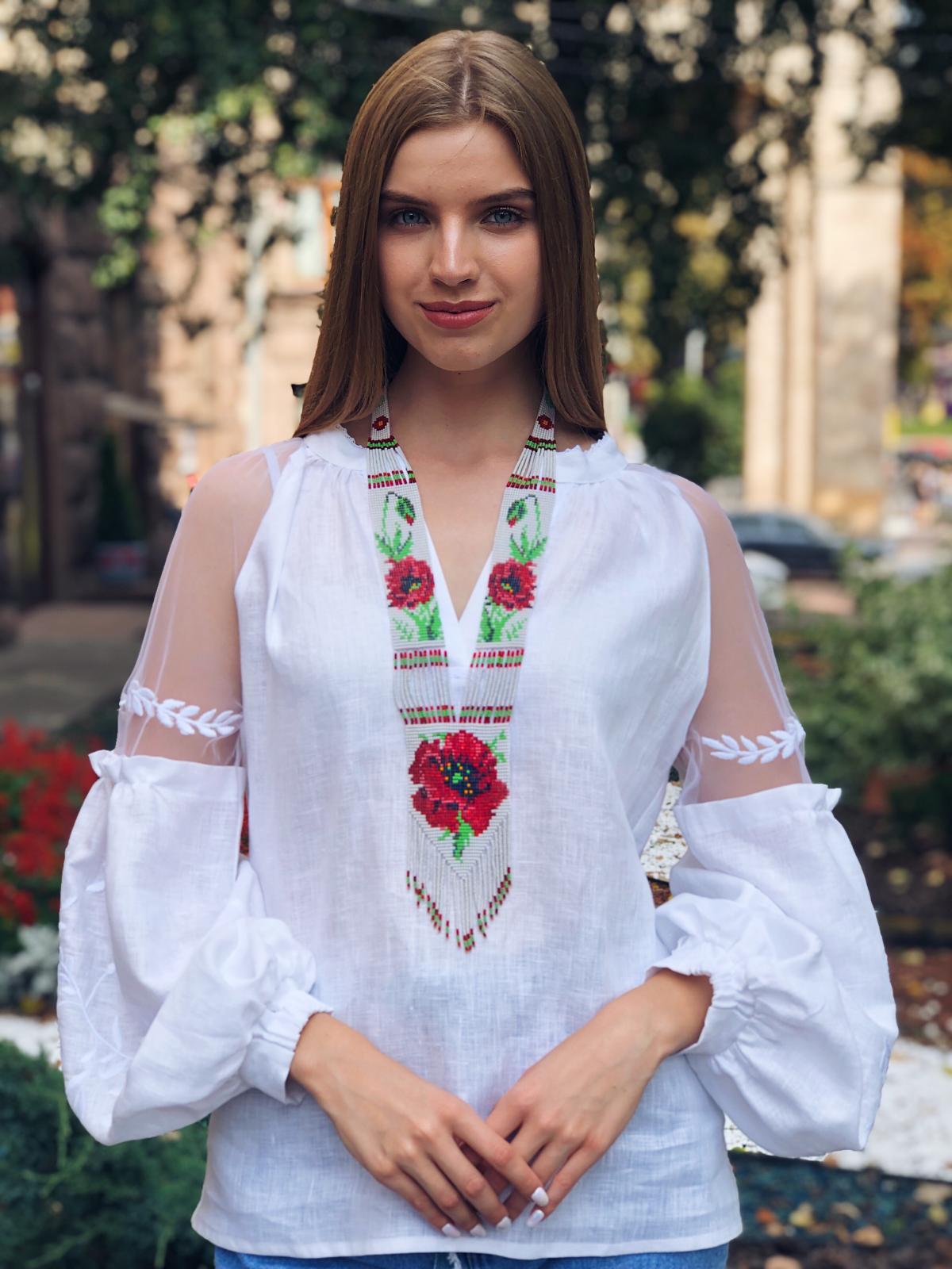 Гердан с маками. Фото №3. | Народный дом Украина