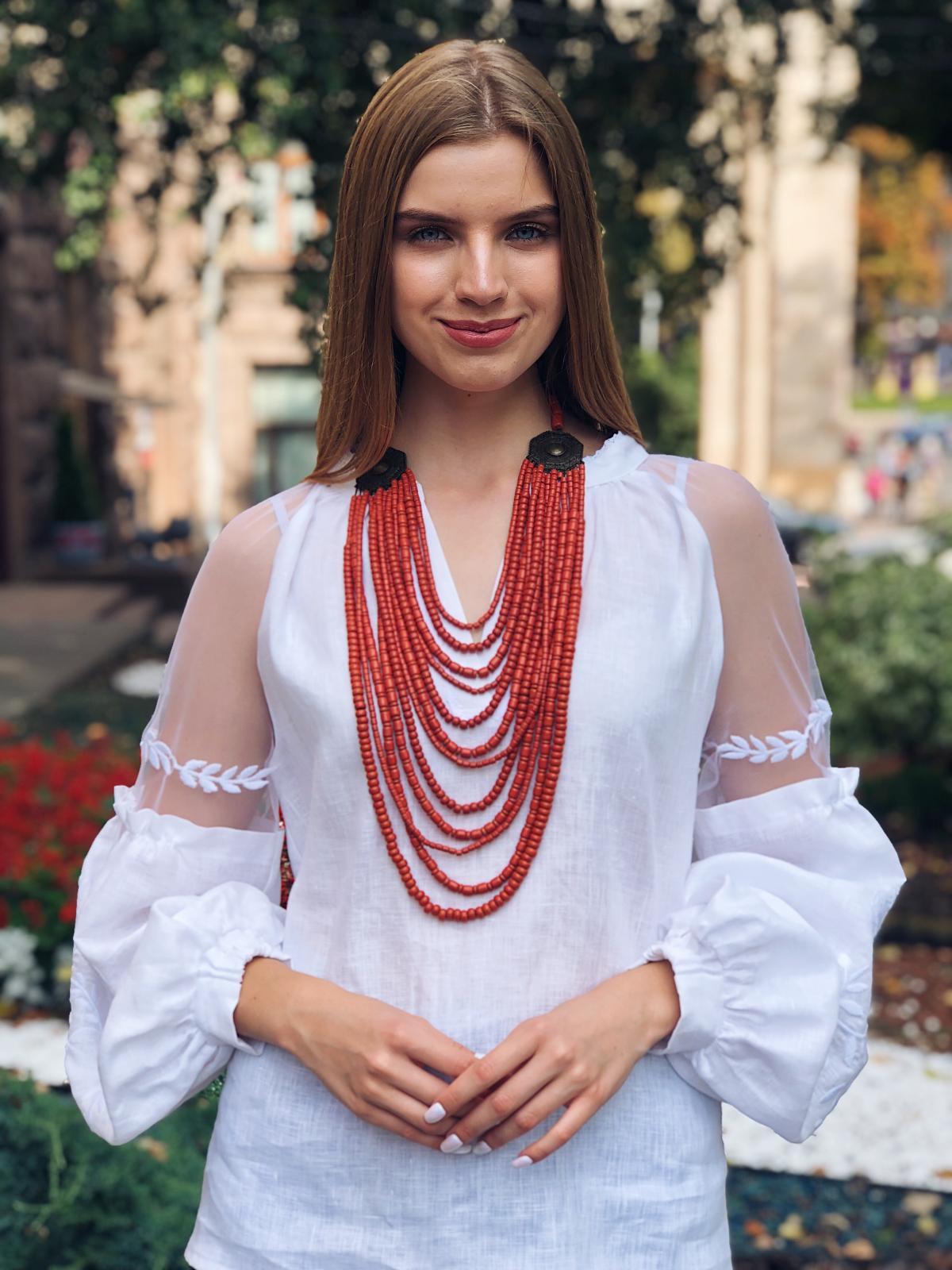 Ожерелье с керамическими бусинами, 11 рядов. Фото №2. | Народный дом Украина
