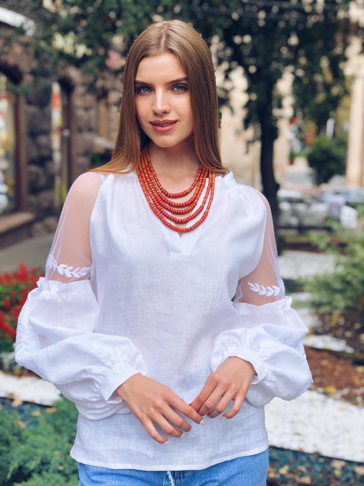 Керамическое этническое ожерелье. Фото №2.   Народный дом Украина